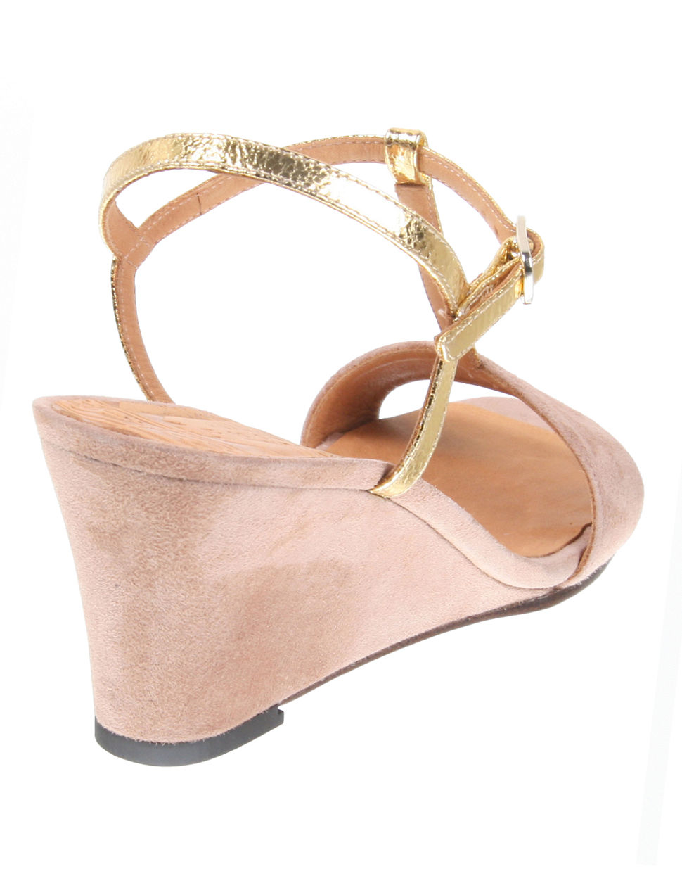 chie mihara respiro suede wedge sandals in pink blush lyst