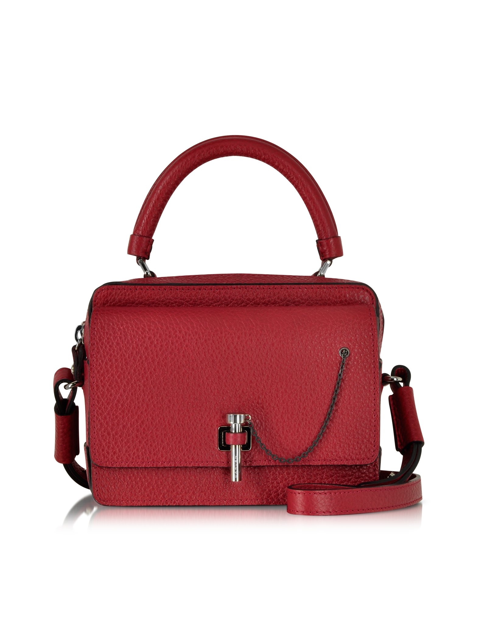 abb80f41a8ac Carven Malher Grained Leather Small Handbag in Red - Lyst