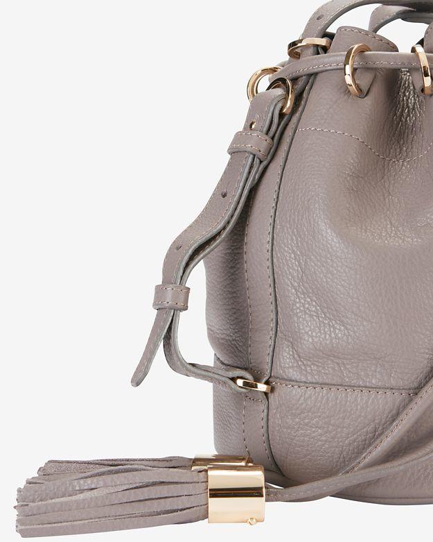 3447c545968c3 See By Chloé Vicki Tassel Bucket Bag: Grey in Gray - Lyst