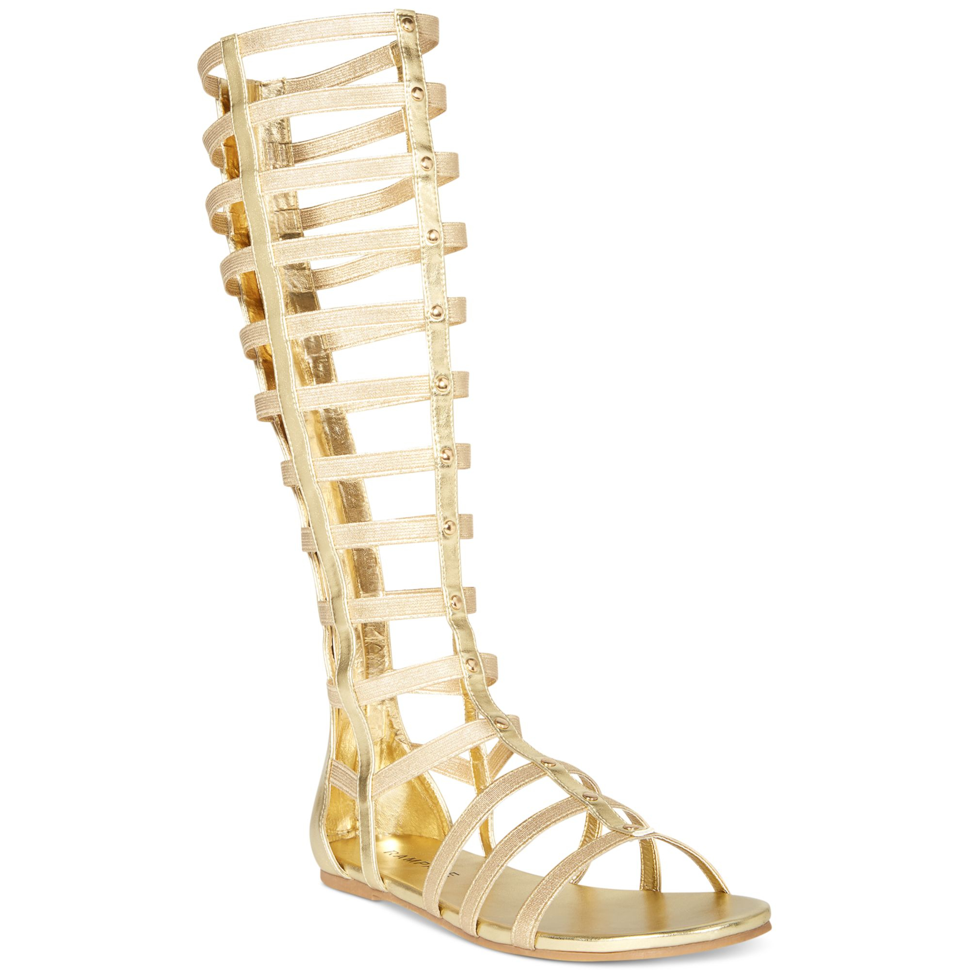 Rampage Porshia Gladiator Sandals in Metallic | Lyst