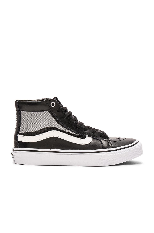 d9fa68f69a Lyst - Vans Mesh Sk8-hi Slim Cutout Sneaker in Black