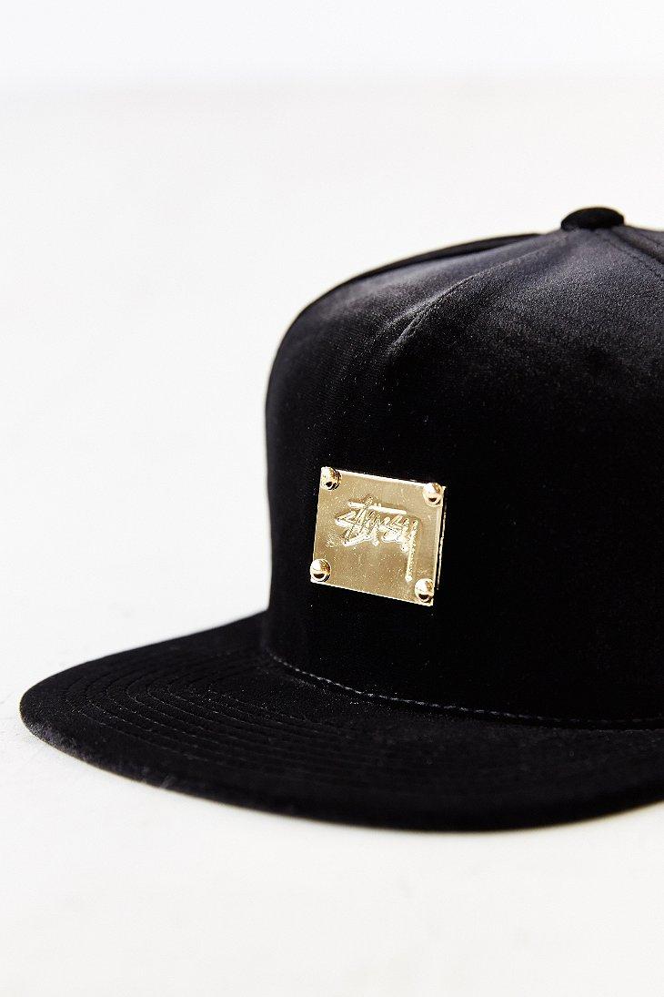 1998f91a936 ... order lyst stussy x uo velvet baseball hat in black 24413 e1173