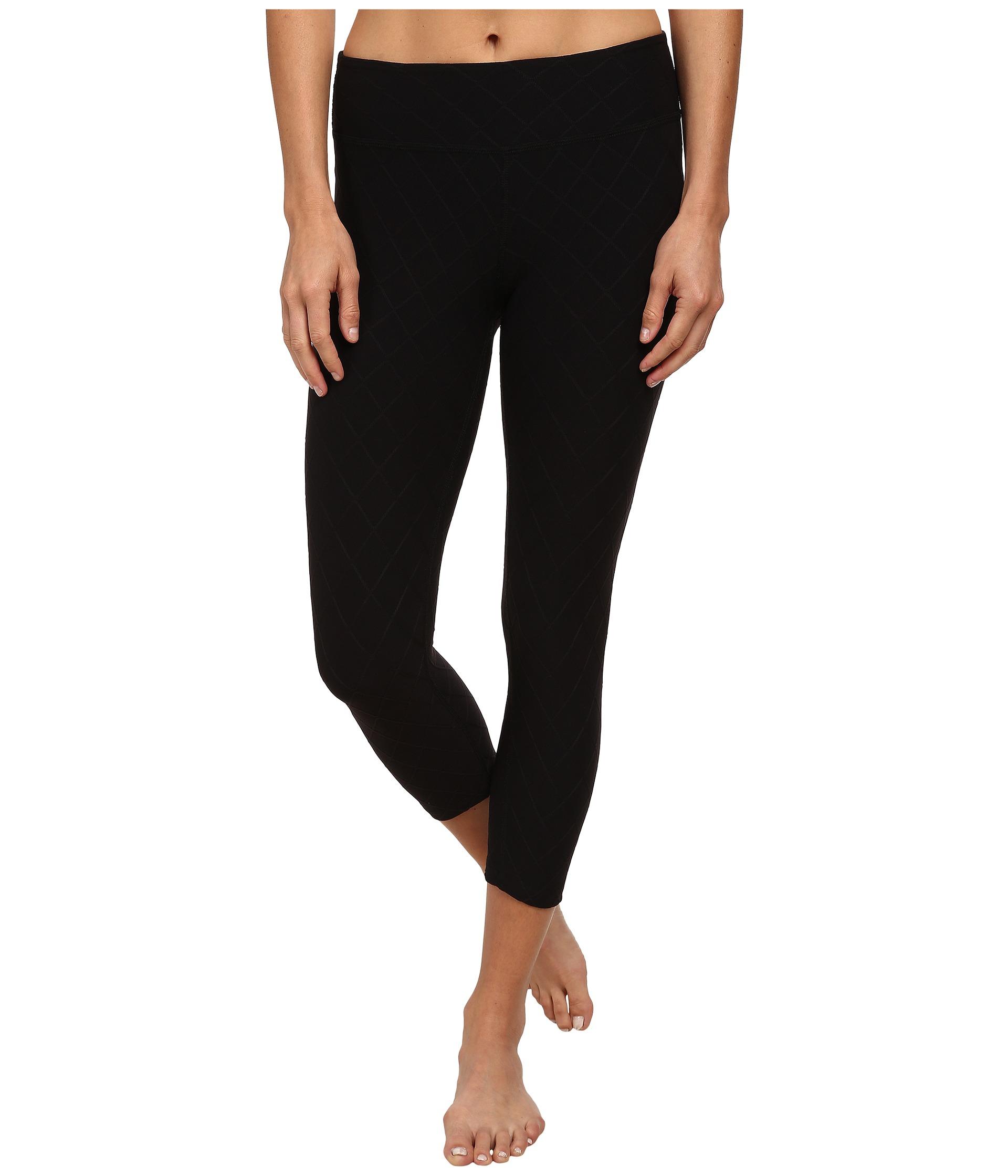 9d19f7f035e2b Beyond Yoga Quilted Capri Legging in Black - Lyst