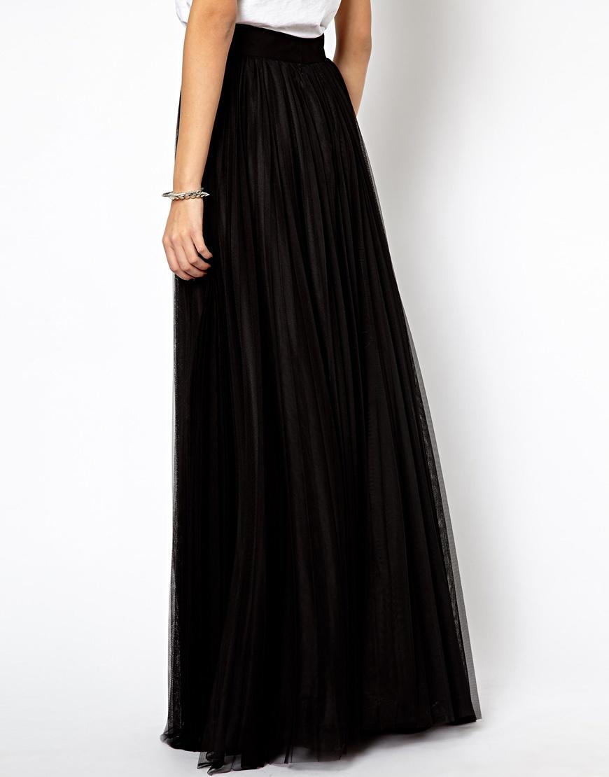 Cheap black pleated maxi skirt – Modern skirts blog for you