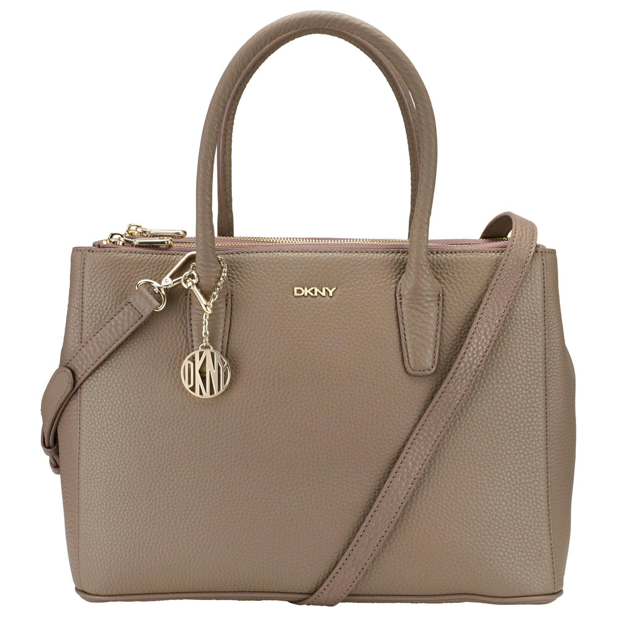 422809191c3c8 DKNY Tribeca Leather Large Zipped Shopper Bag in Natural - Lyst