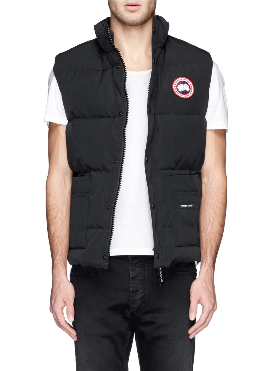 on sale canada goose vest freestyle for men in brown