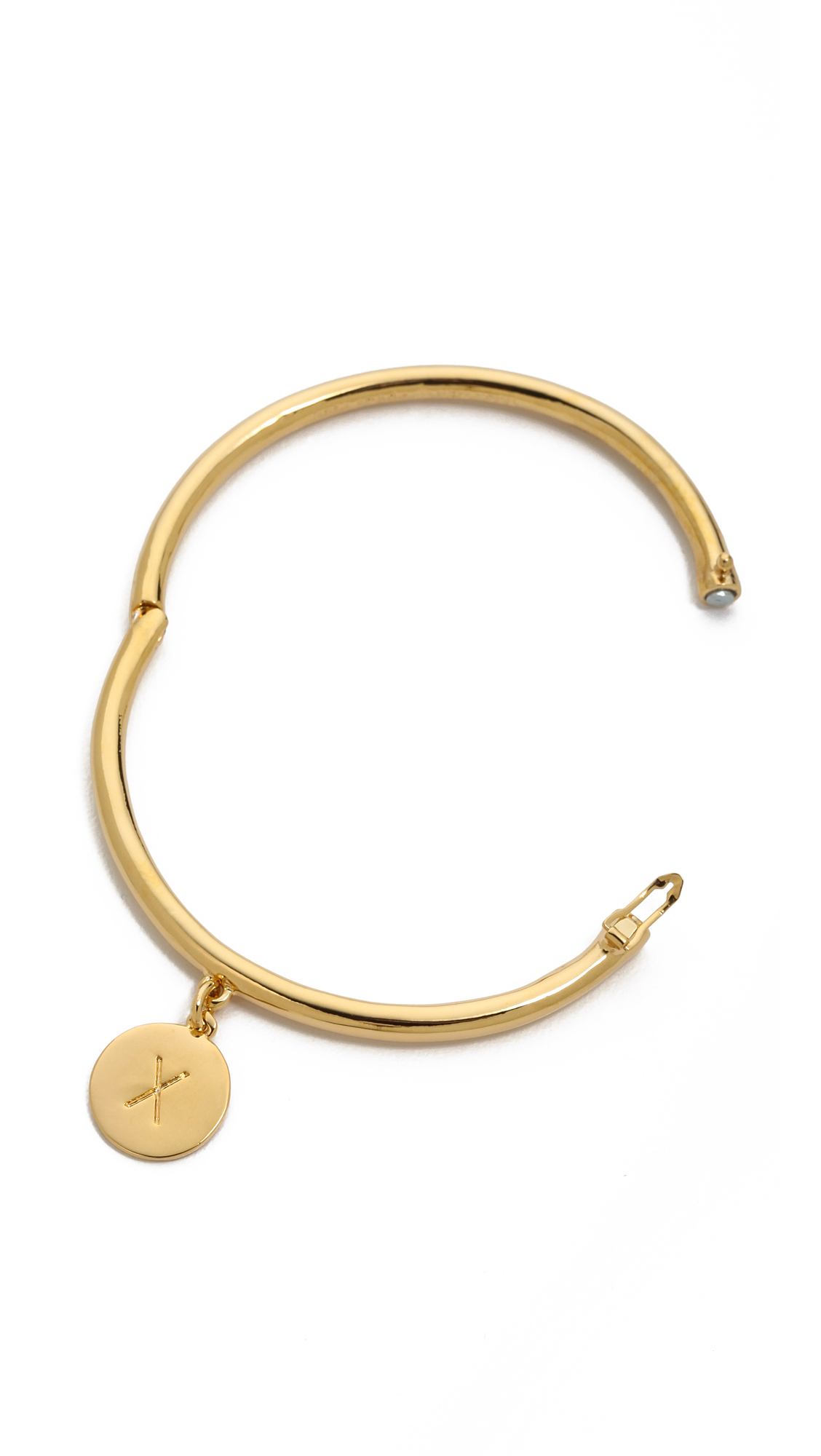 Kate spade charm letter bangle bracelet j in gold x lyst for Letter j bracelet