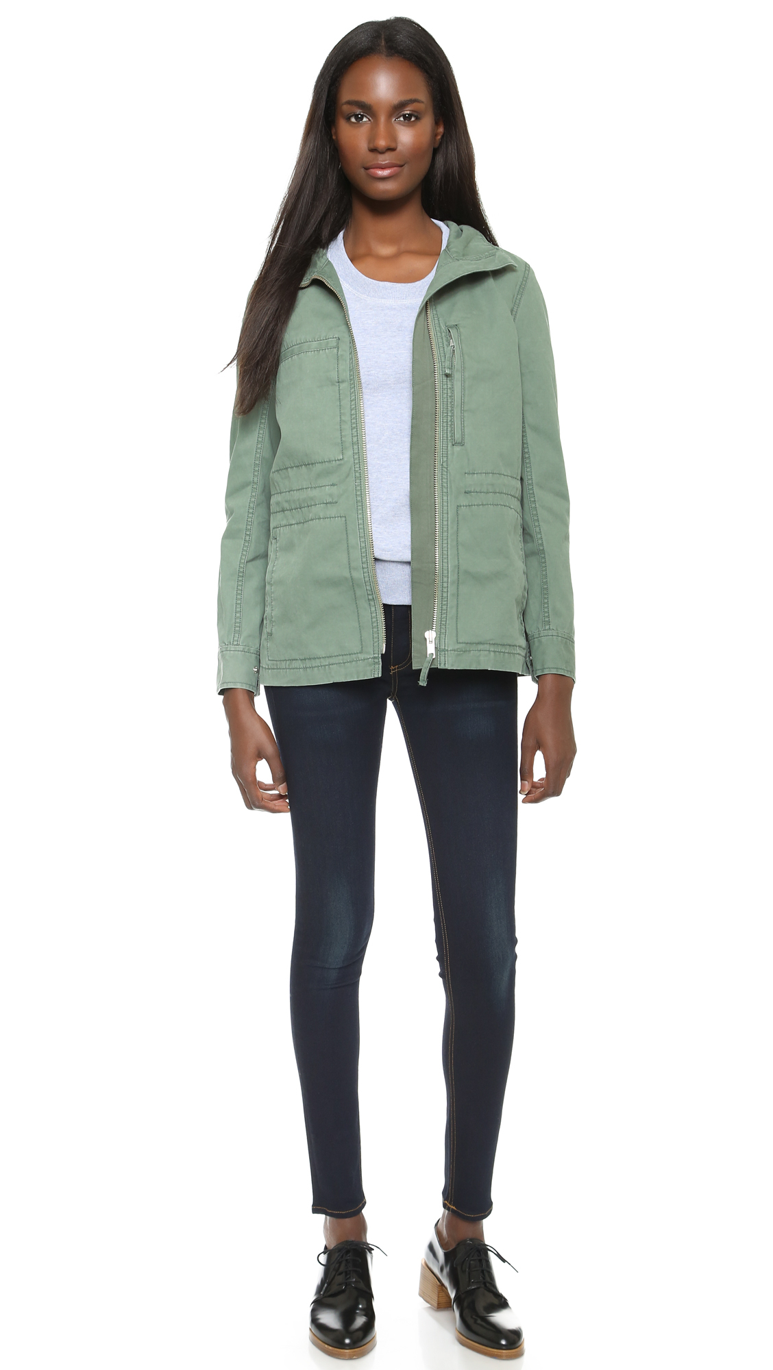 099286e4a56 Madewell Outbound Jacket - Meadow Green in Green