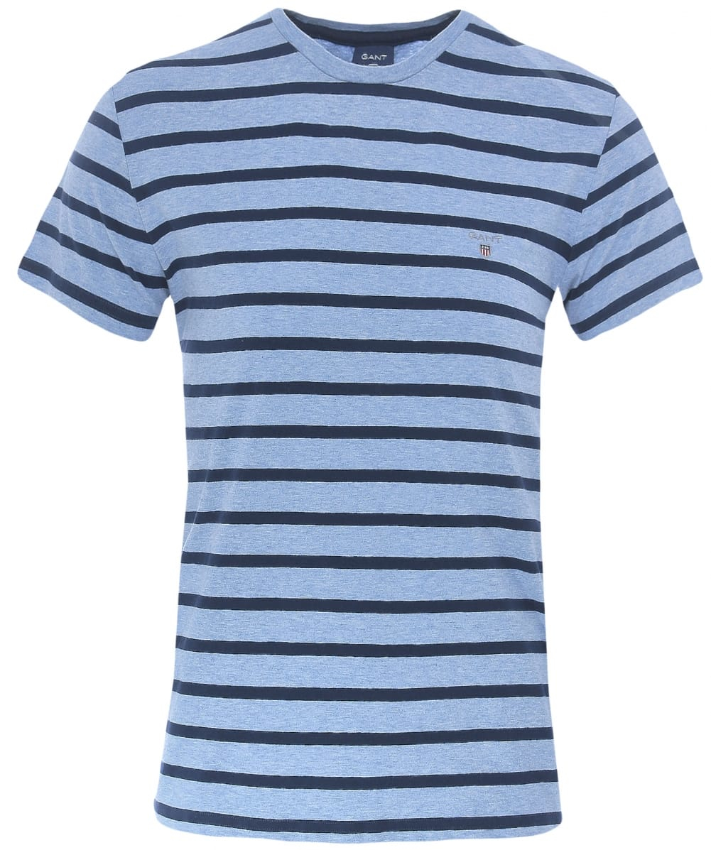 gant breton stripe t shirt in blue for men lyst. Black Bedroom Furniture Sets. Home Design Ideas