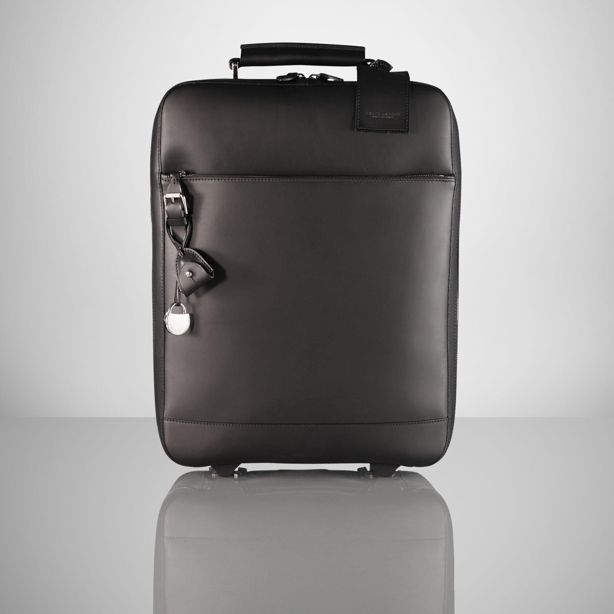b18a4bdafe34 Ralph lauren large leather trolley in black for men lyst jpg 2000x2000 Ralph  lauren luggage trolley