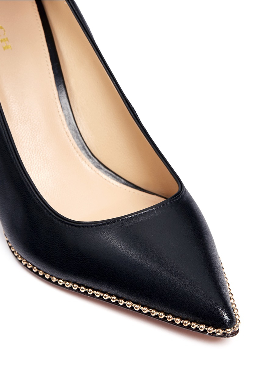 Black And Gold Pumps Shoes