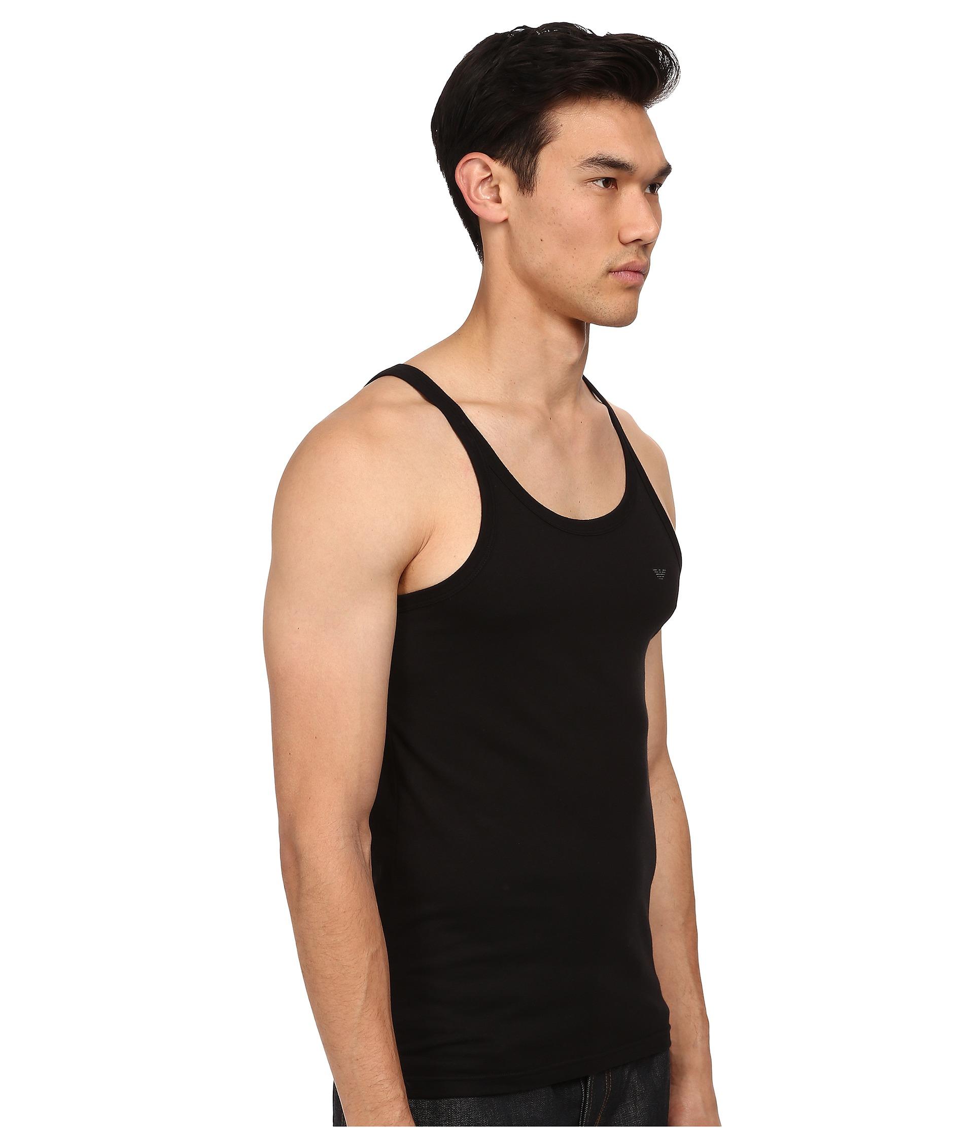7ba2e7bb28d83 Lyst - Emporio Armani 3-pack Cotton Tank Top in Black for Men