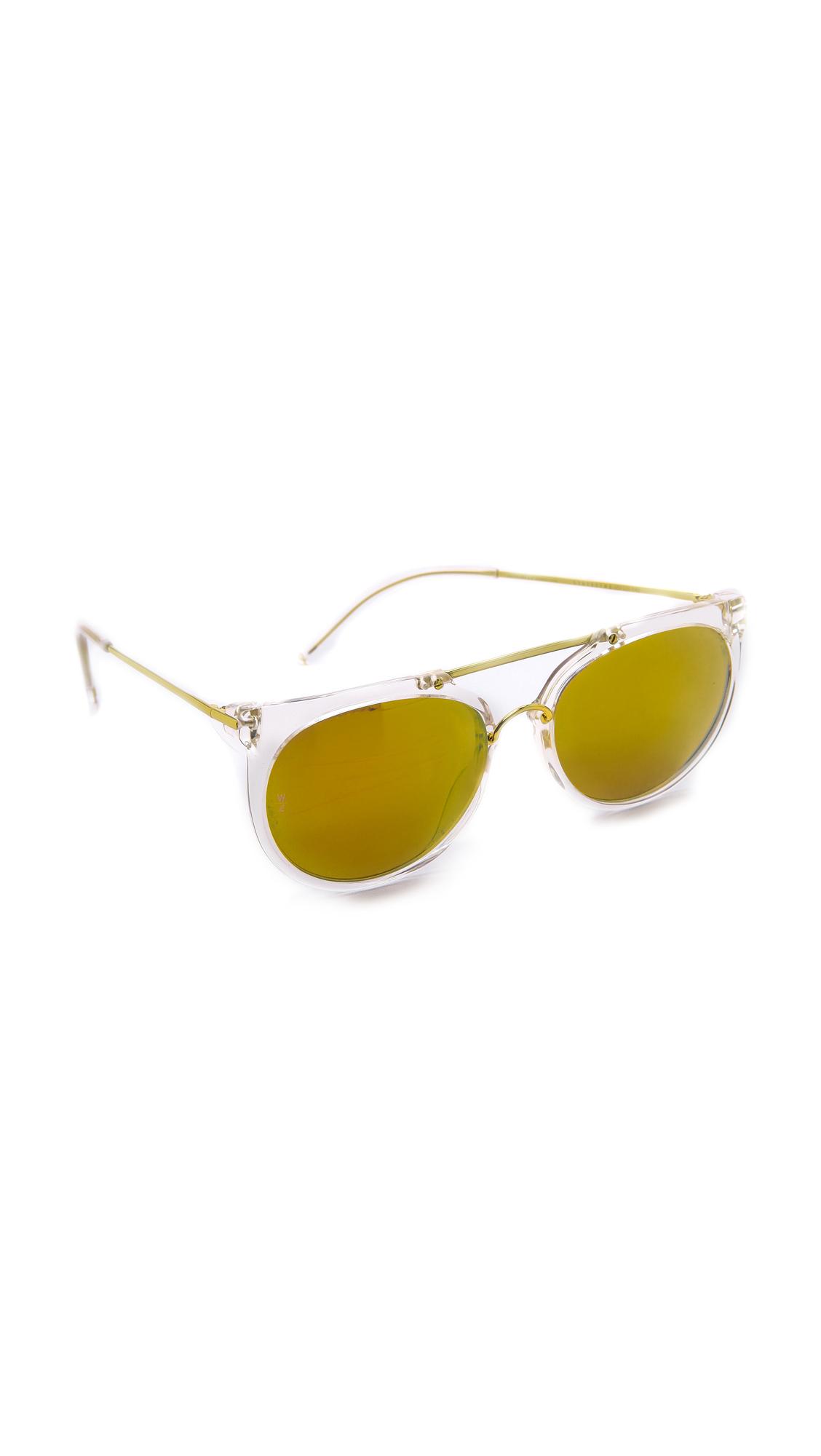8f710b71a6173 Lyst - Wonderland Stateline Sunglasses - Clear gold in Metallic