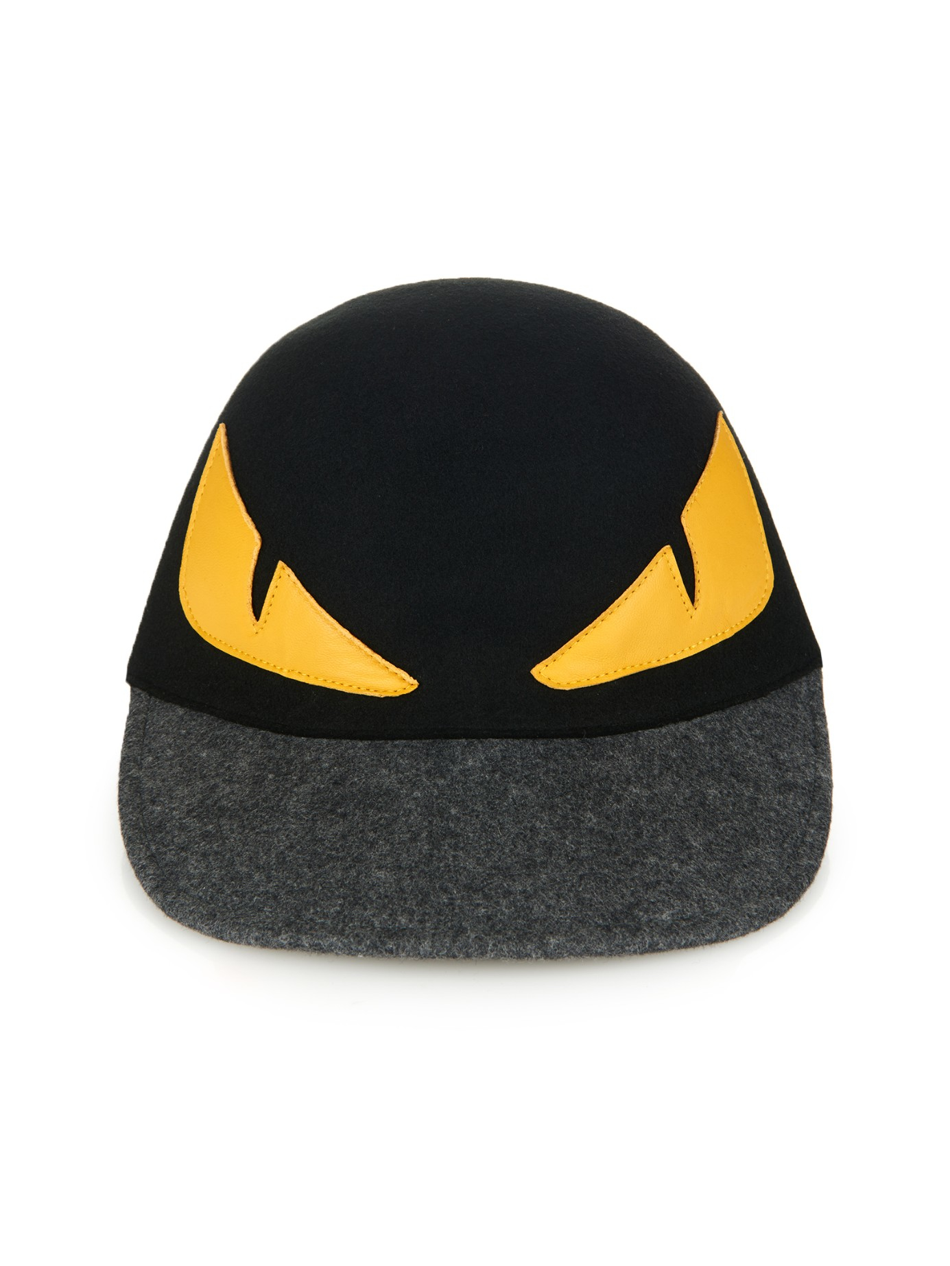 97808190948 Lyst - Fendi Monster Eyes Wool-Felt Cap in Black for Men