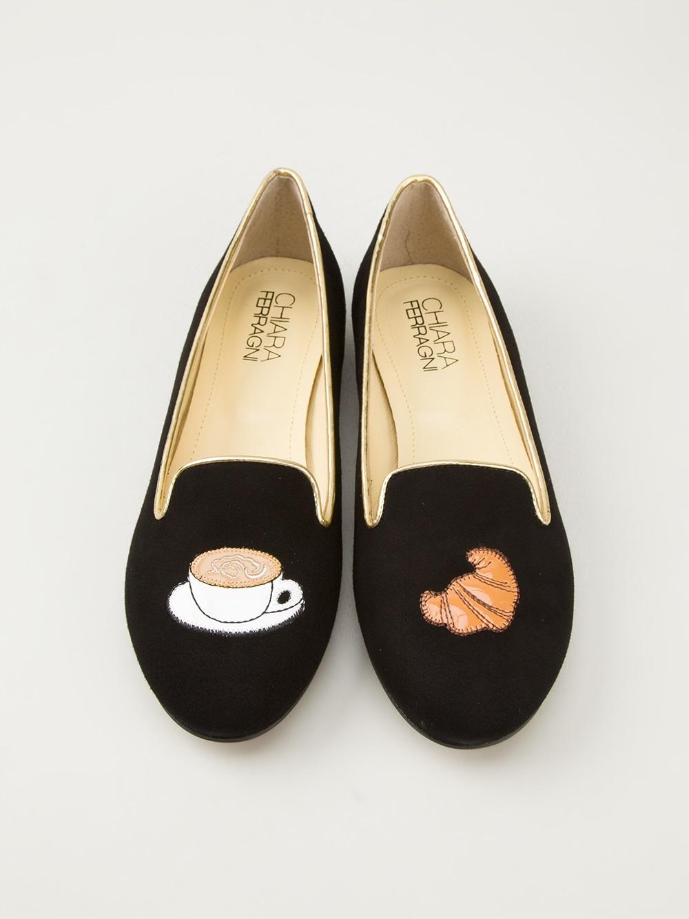 Lyst Chiara Ferragni Breakfast Slippers In Black