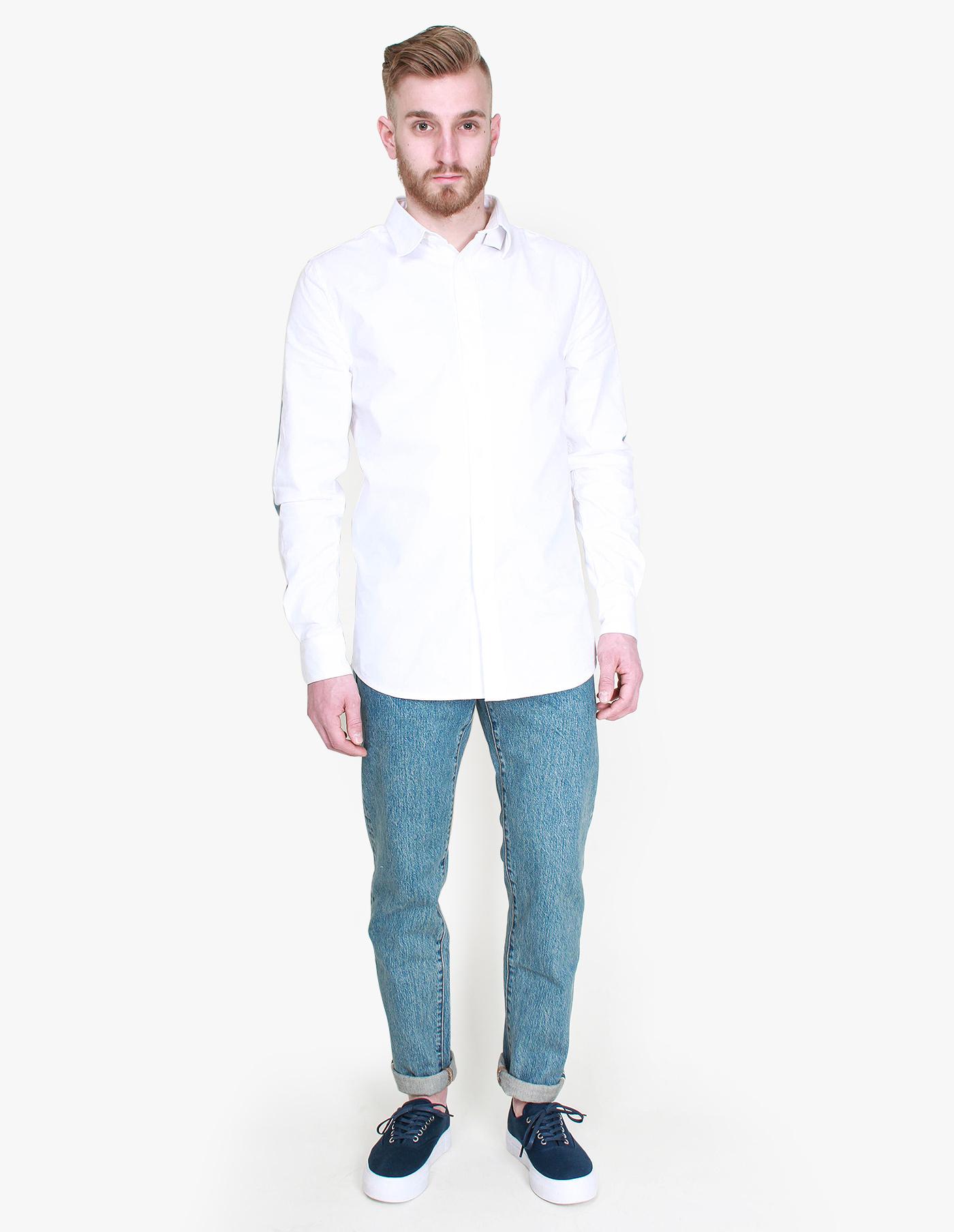 Han Kjobenhavn Classic Shirt In White For Men Lyst