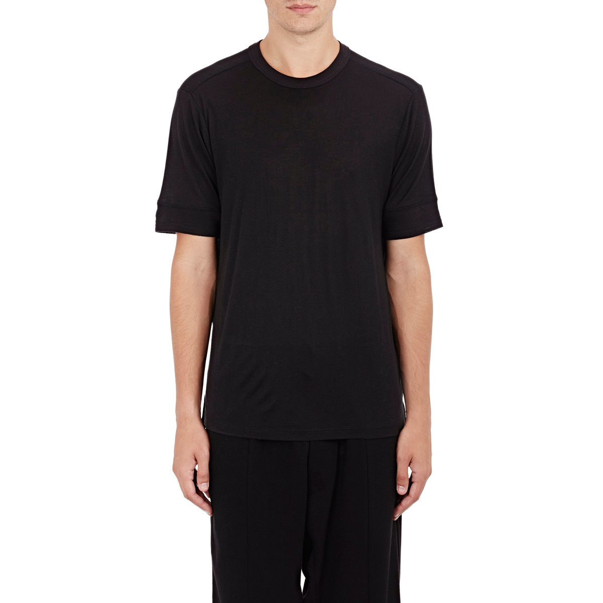 T By Alexander Wang Jersey Short Sleeve T Shirt In Black