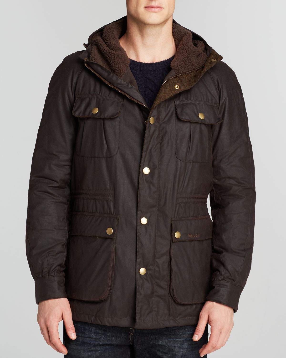 Barbour Northolt Waxed Cotton Parka in Brown for Men | Lyst