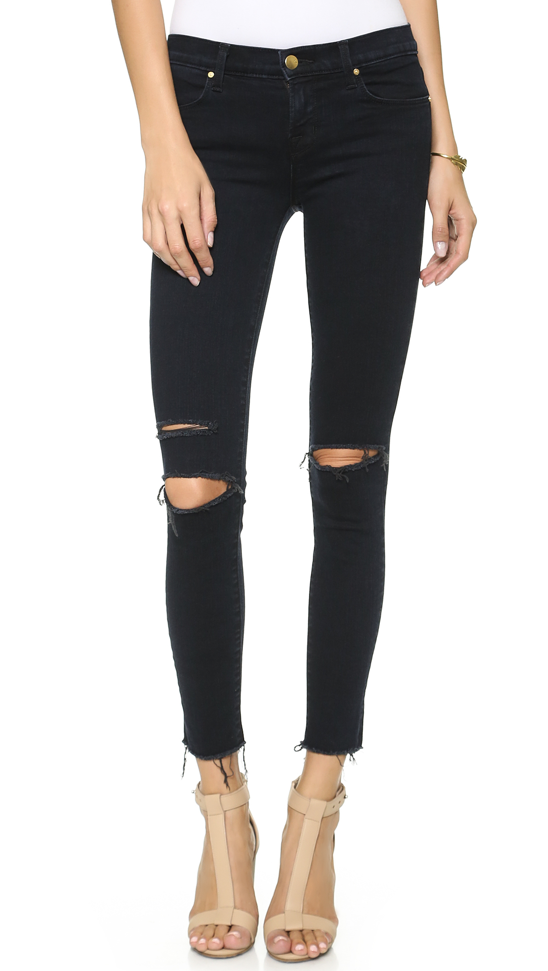Lyst - J Brand 8227 Mid Rise Ankle Skinny Jeans in Blue