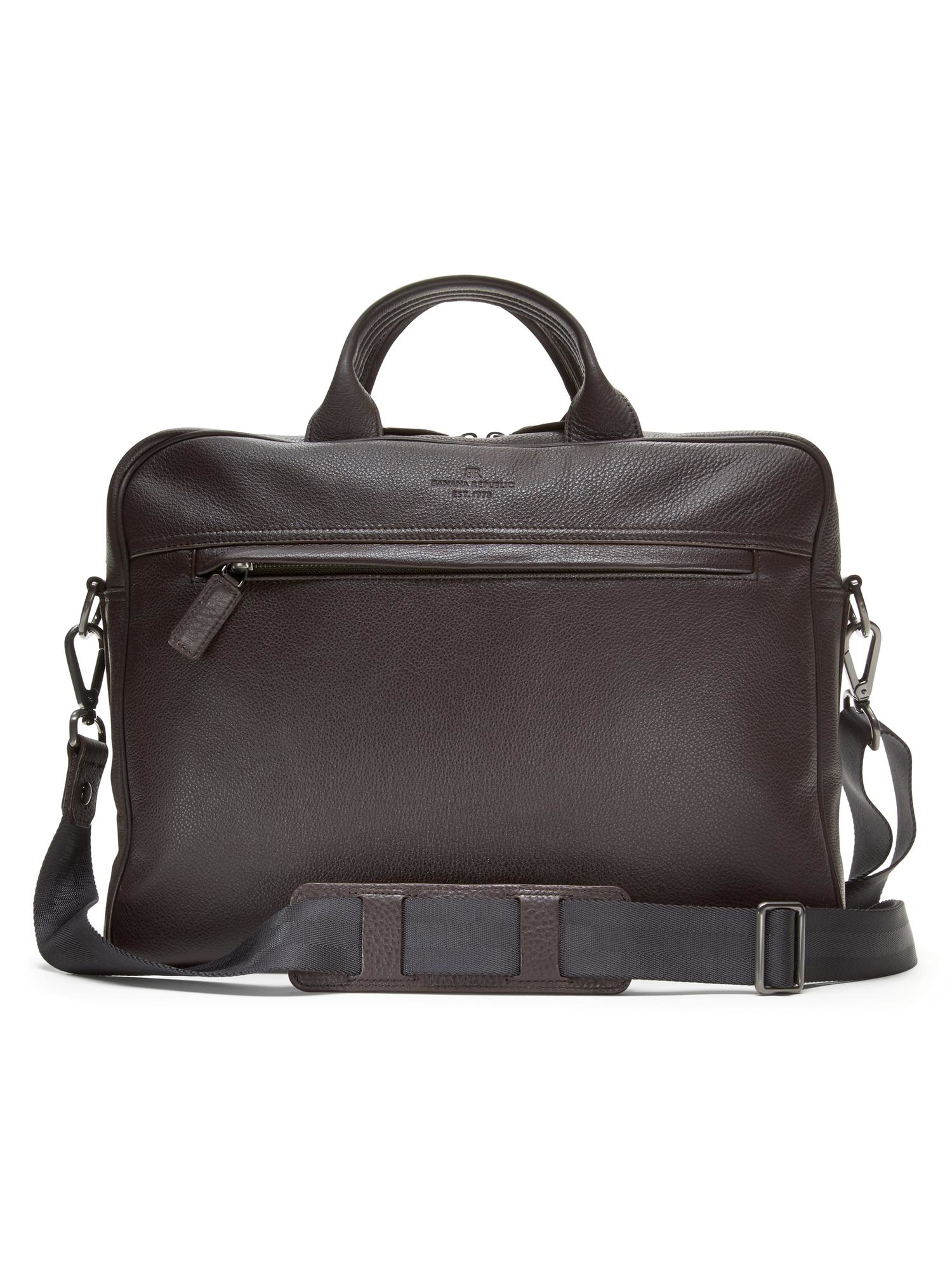 Banana Republic Brown Leather Briefcase in Brown for Men | Lyst