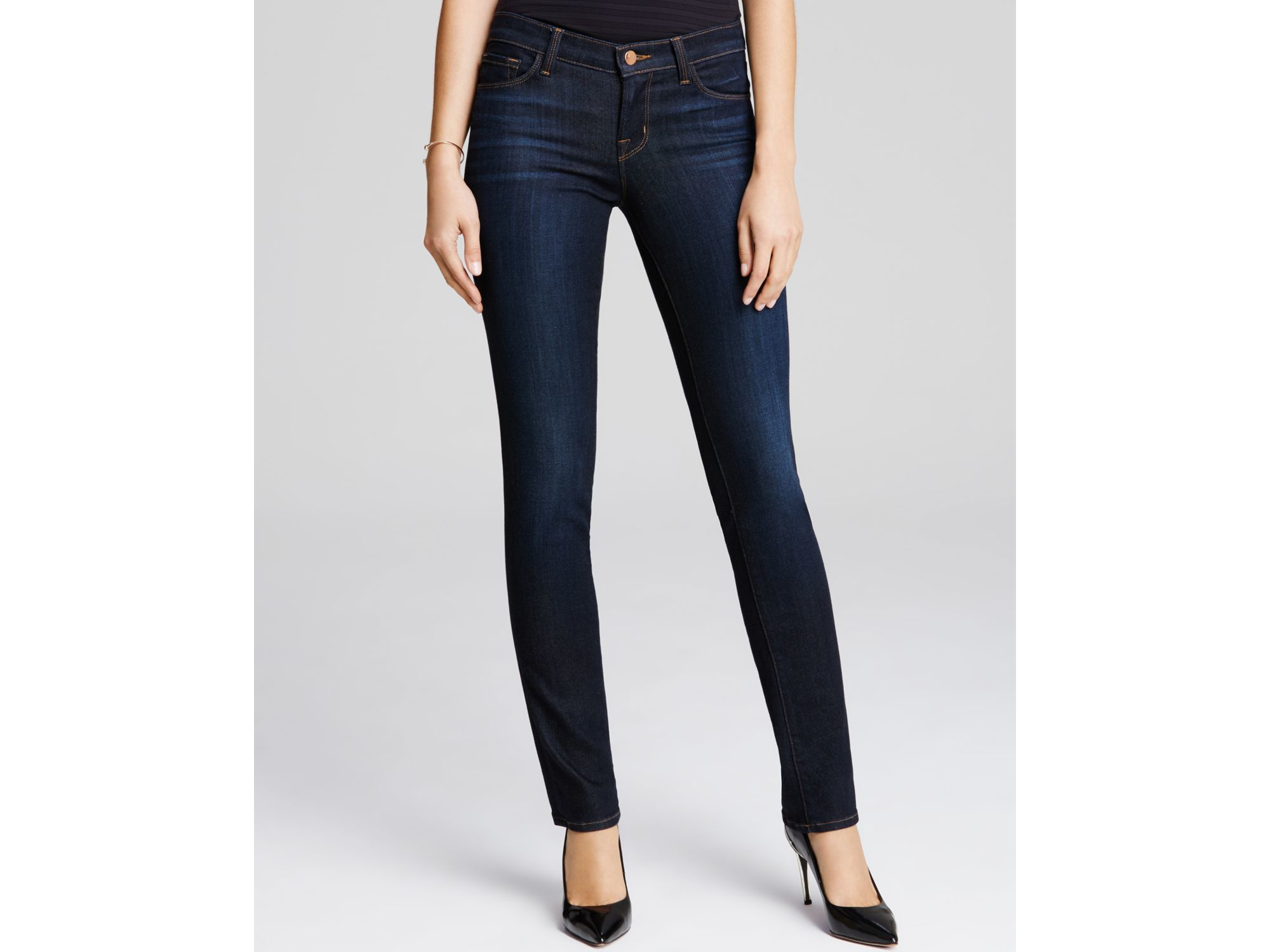 j brand straight leg jeans in lawless in blue lyst. Black Bedroom Furniture Sets. Home Design Ideas