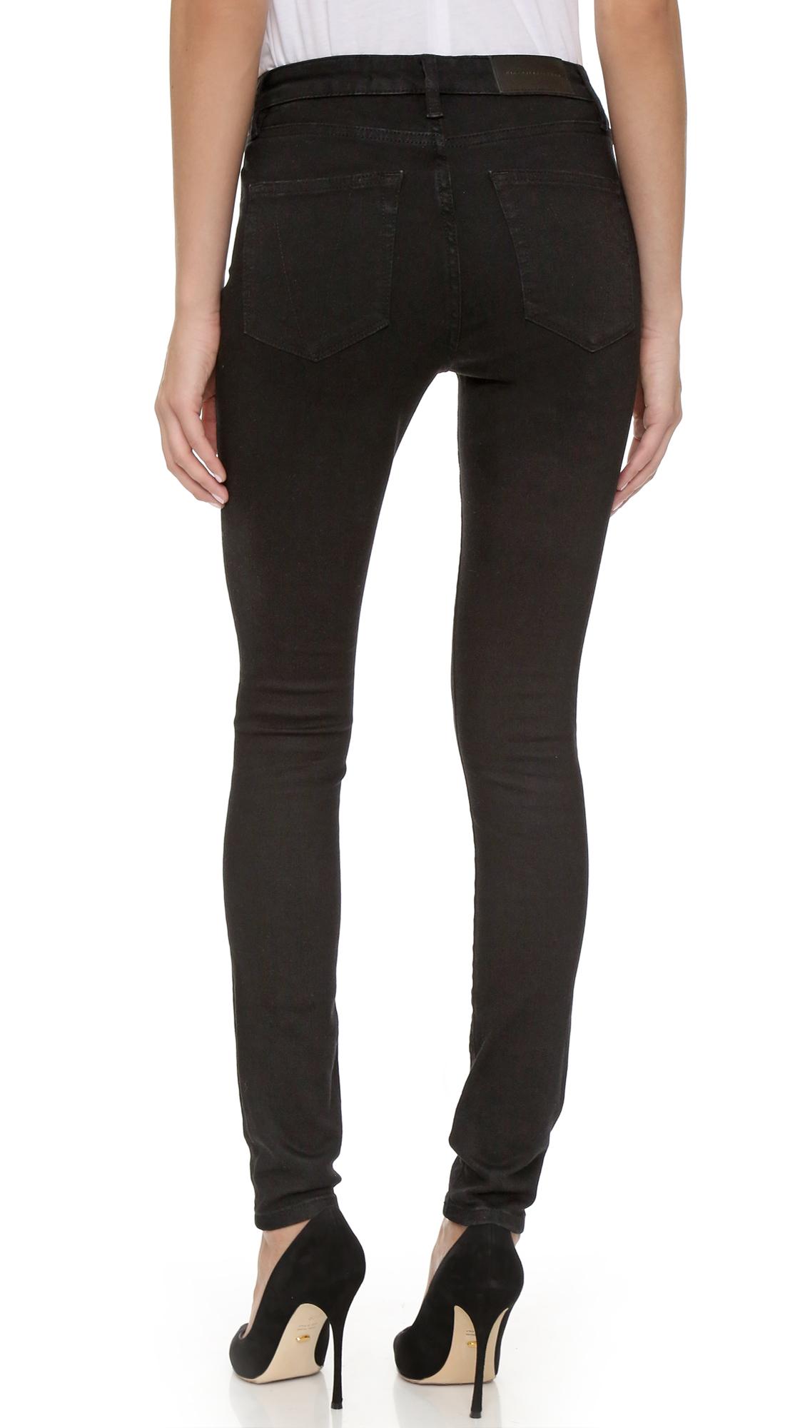 victoria victoria beckham power high jeans in black lyst. Black Bedroom Furniture Sets. Home Design Ideas