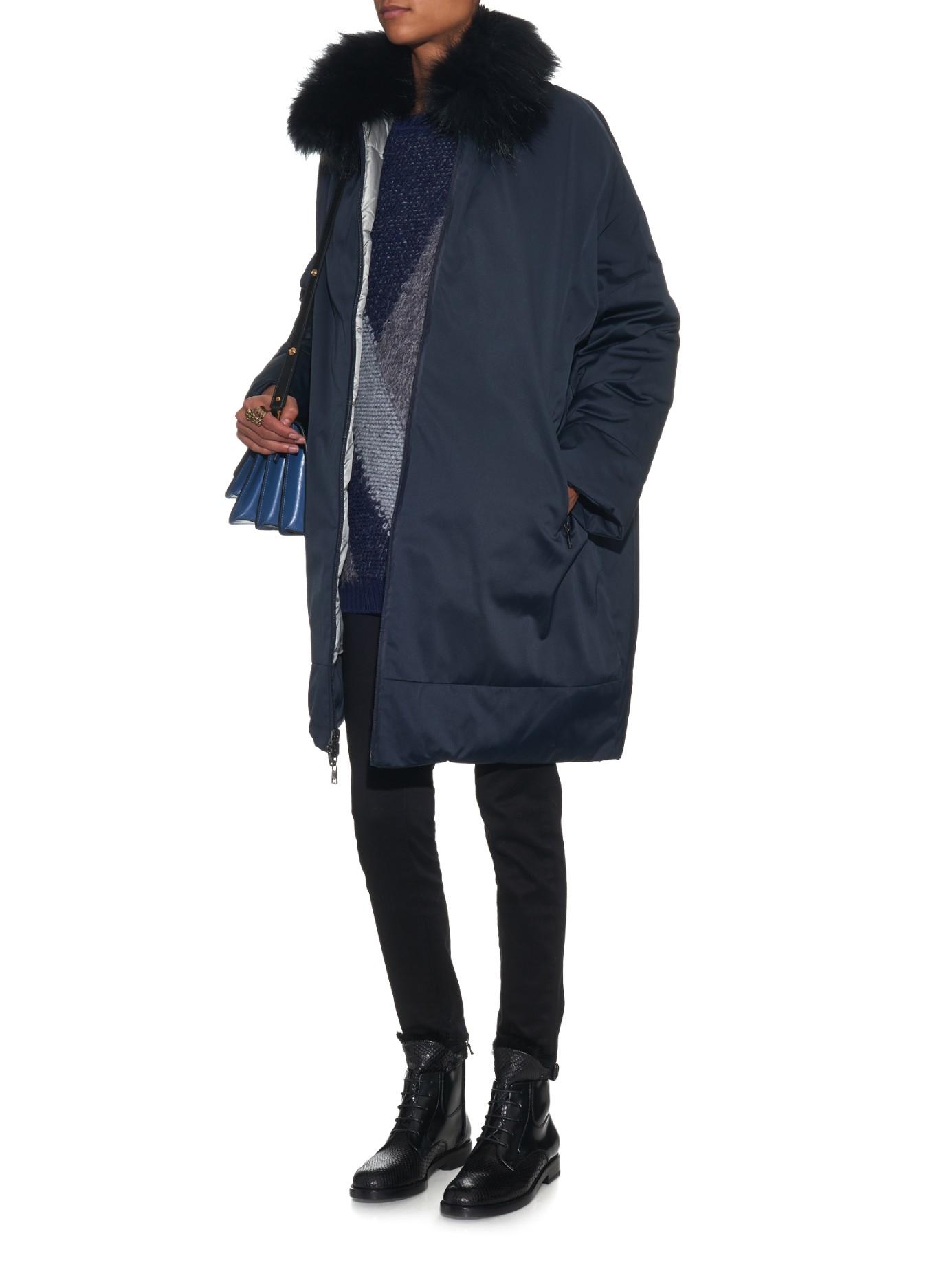 Lyst Weekend By Maxmara Afide Reversible Down Coat In Blue