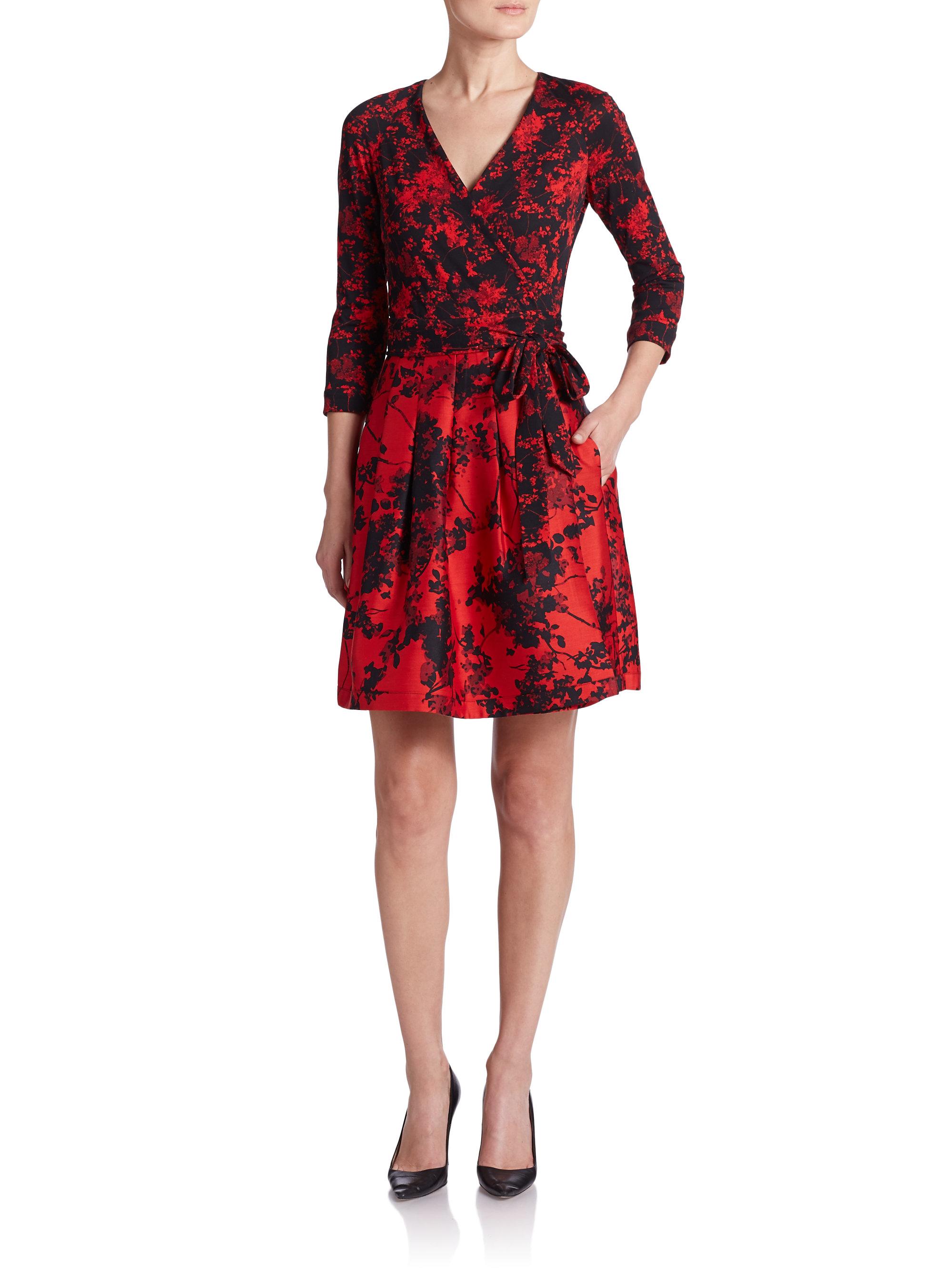 Lyst Diane Von Furstenberg Jewel Printed Wrap Dress