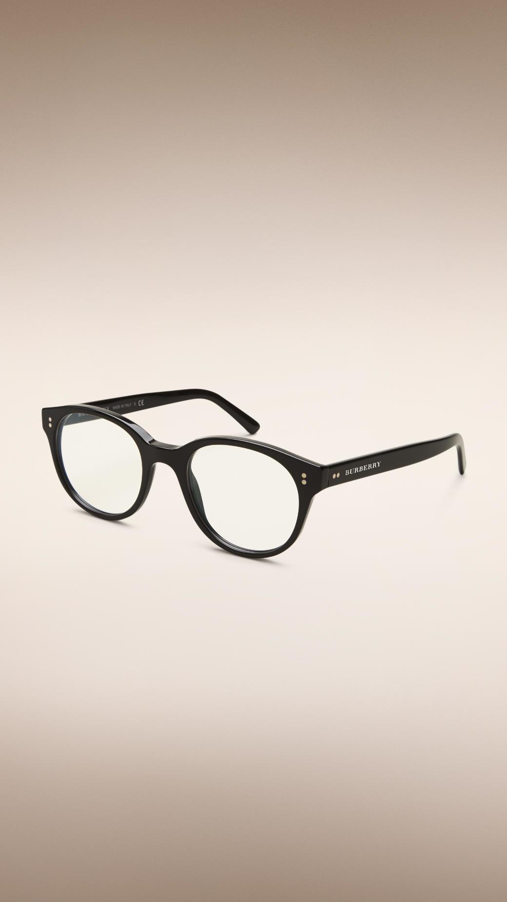 Burberry Eyeglass Frames 2015 : Burberry Round Optical Frames Black in Black for Men Lyst