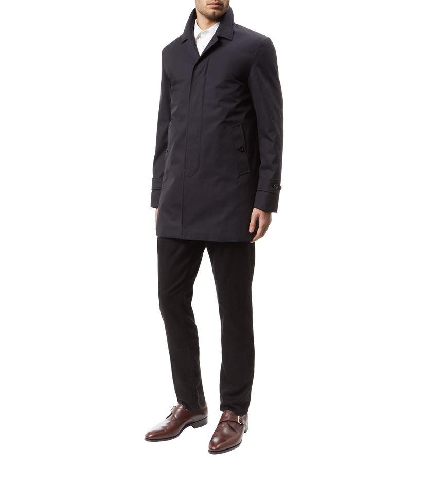 Burberry Down-filled Cotton Gabardine Car Coat in Gray for Men | Lyst