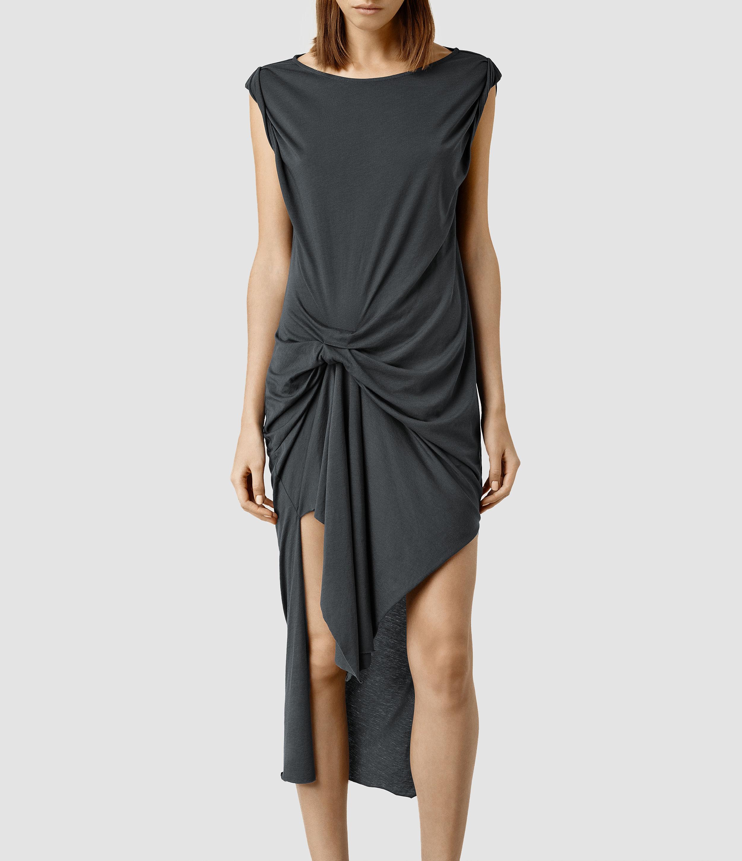 128259d7aca Lyst - AllSaints Riviera Devo Dress in Black
