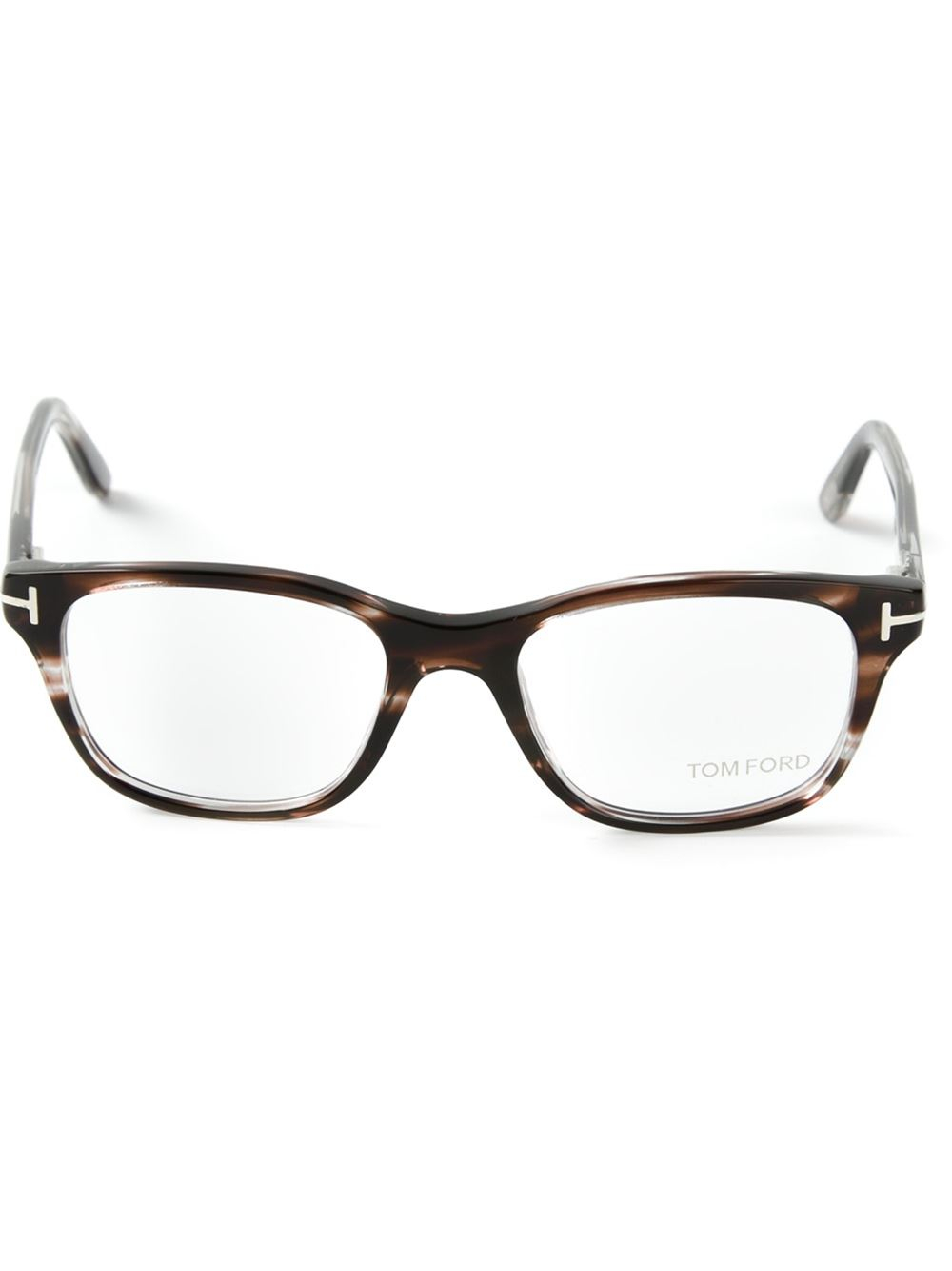tom ford square frame glasses in brown for lyst