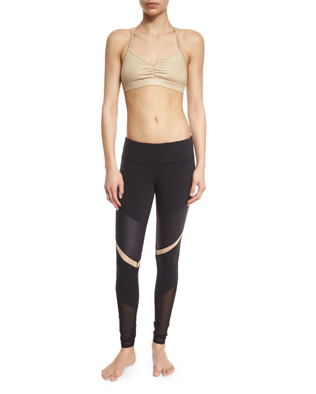 Alo Yoga Shelia Paneled Sport Leggings In Black