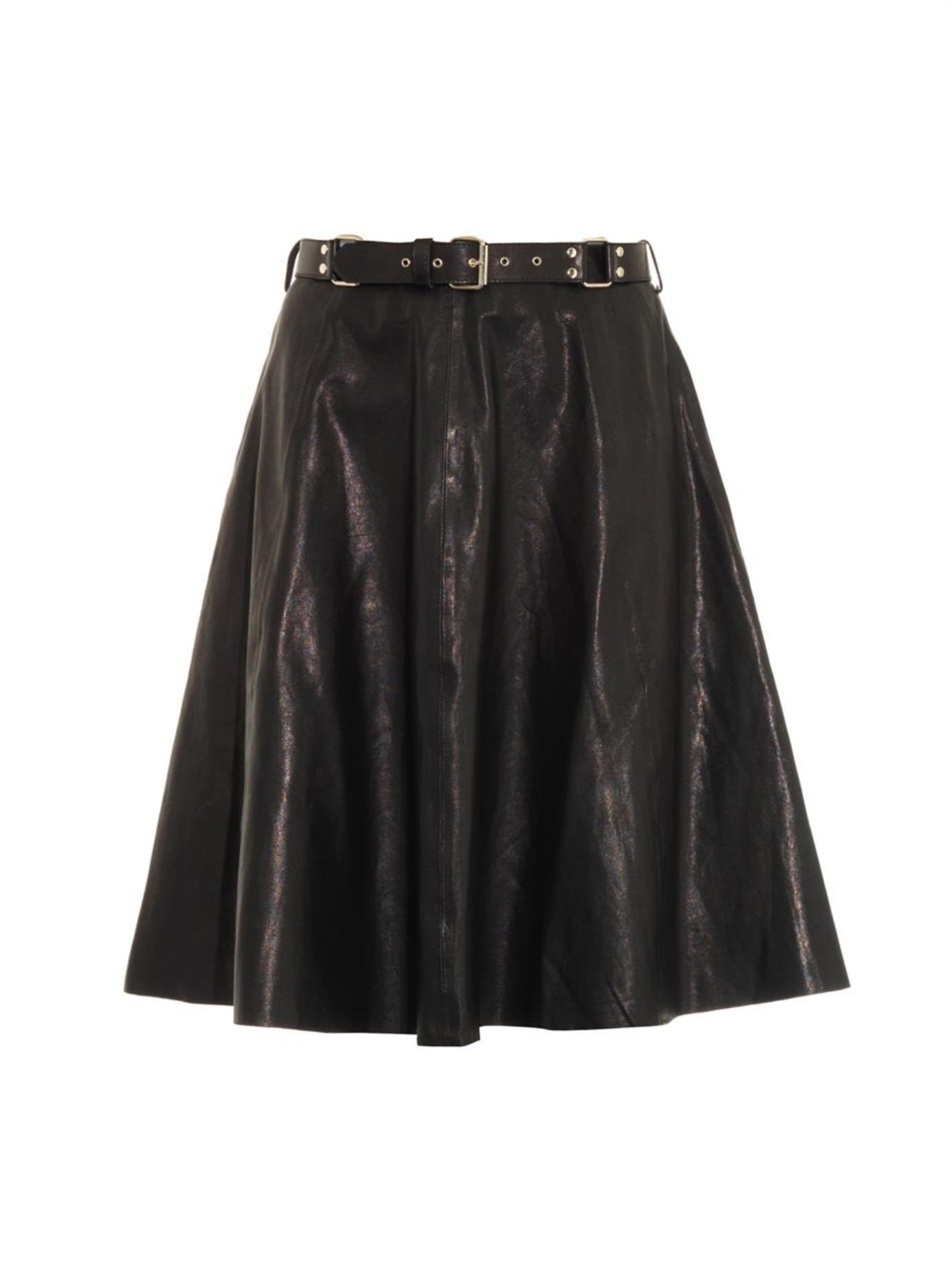 rika leather a line skirt in black lyst