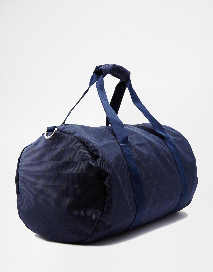Lyst - Original Penguin Duffle Bag With All Over Print in Blue for Men 03e4a5d01dda