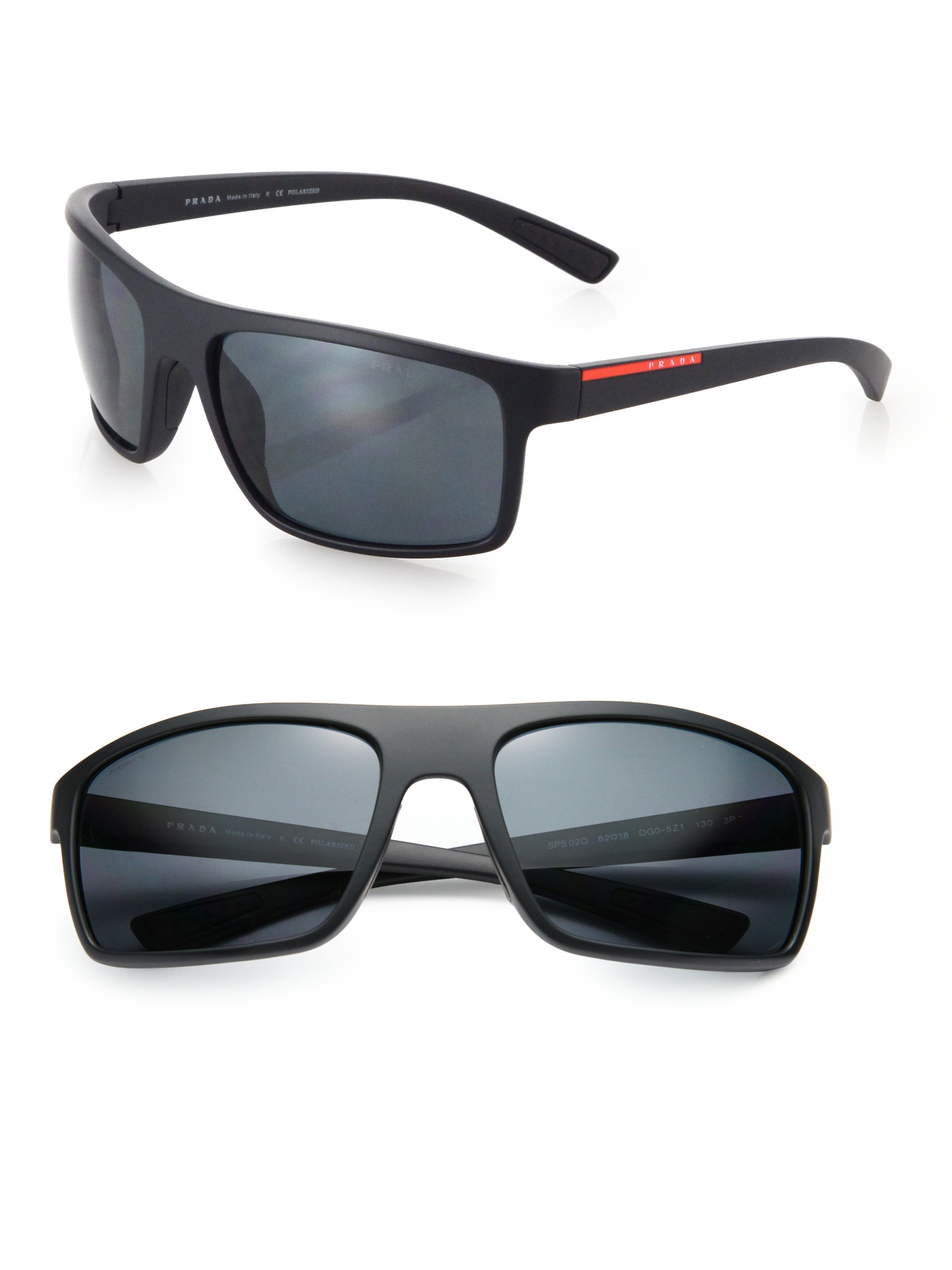 12fab1b8ce0ee ... where to buy lyst prada 62mm rectangle sunglasses in black for men  3eb0a f2f11