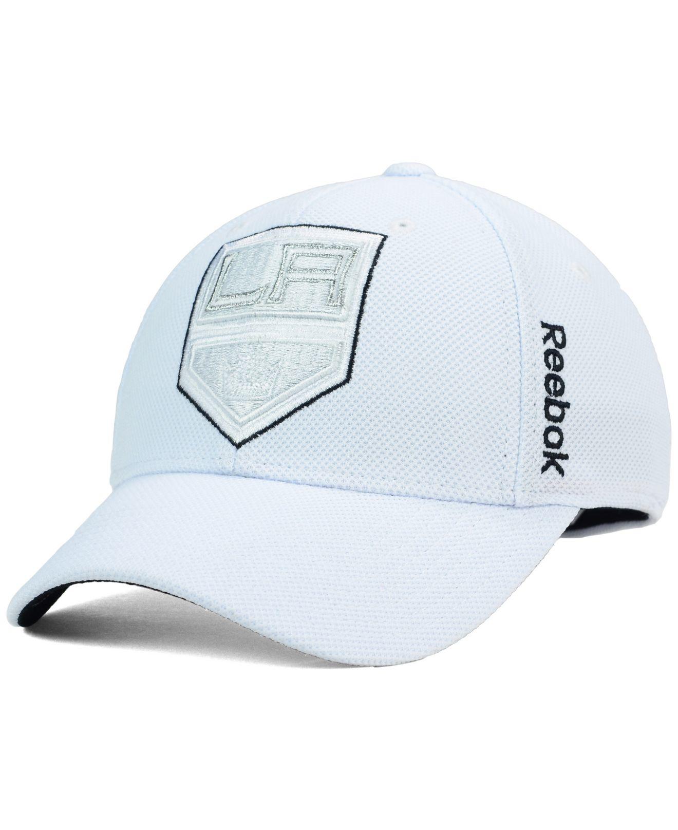 low priced 35aa4 3d40c Lyst - Reebok Los Angeles Kings 2nd Season Flex Cap in White for Men