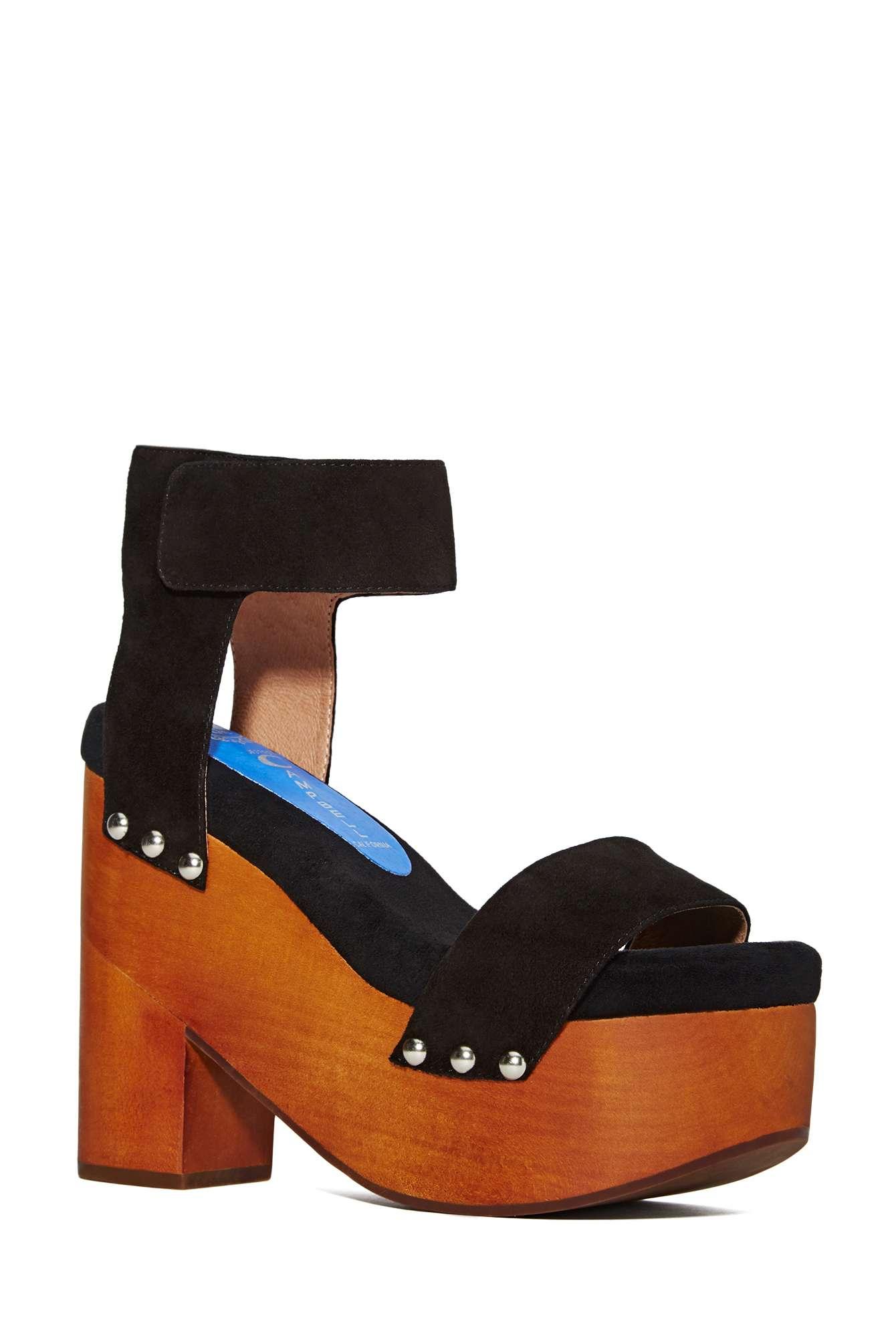 Nasty Gal Jeffrey Campbell Mccloud Platform Sandal In