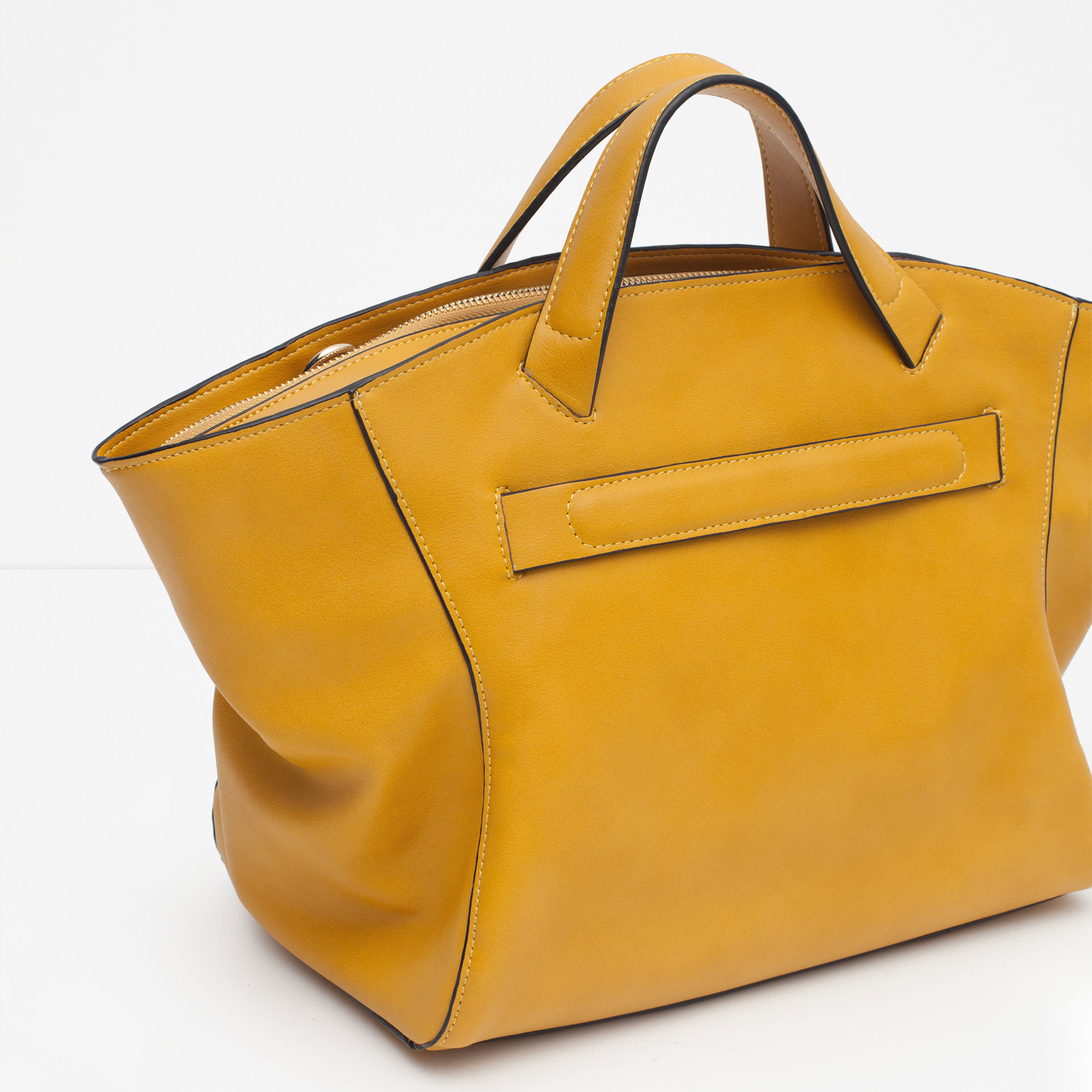 Zara Zipped Tote Bag In Yellow Lyst