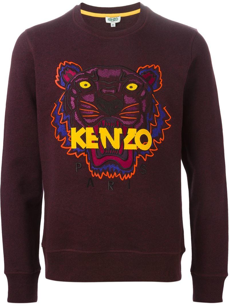 a2895b8c KENZO 'tiger' Sweatshirt in Purple for Men - Lyst