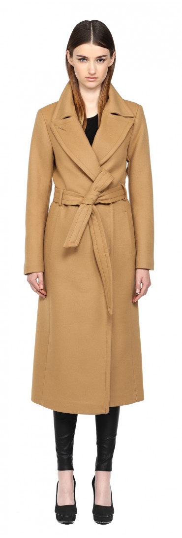 09e45fb44195 Mackage Babie-sp Camel Long Wool Coat in Natural - Lyst