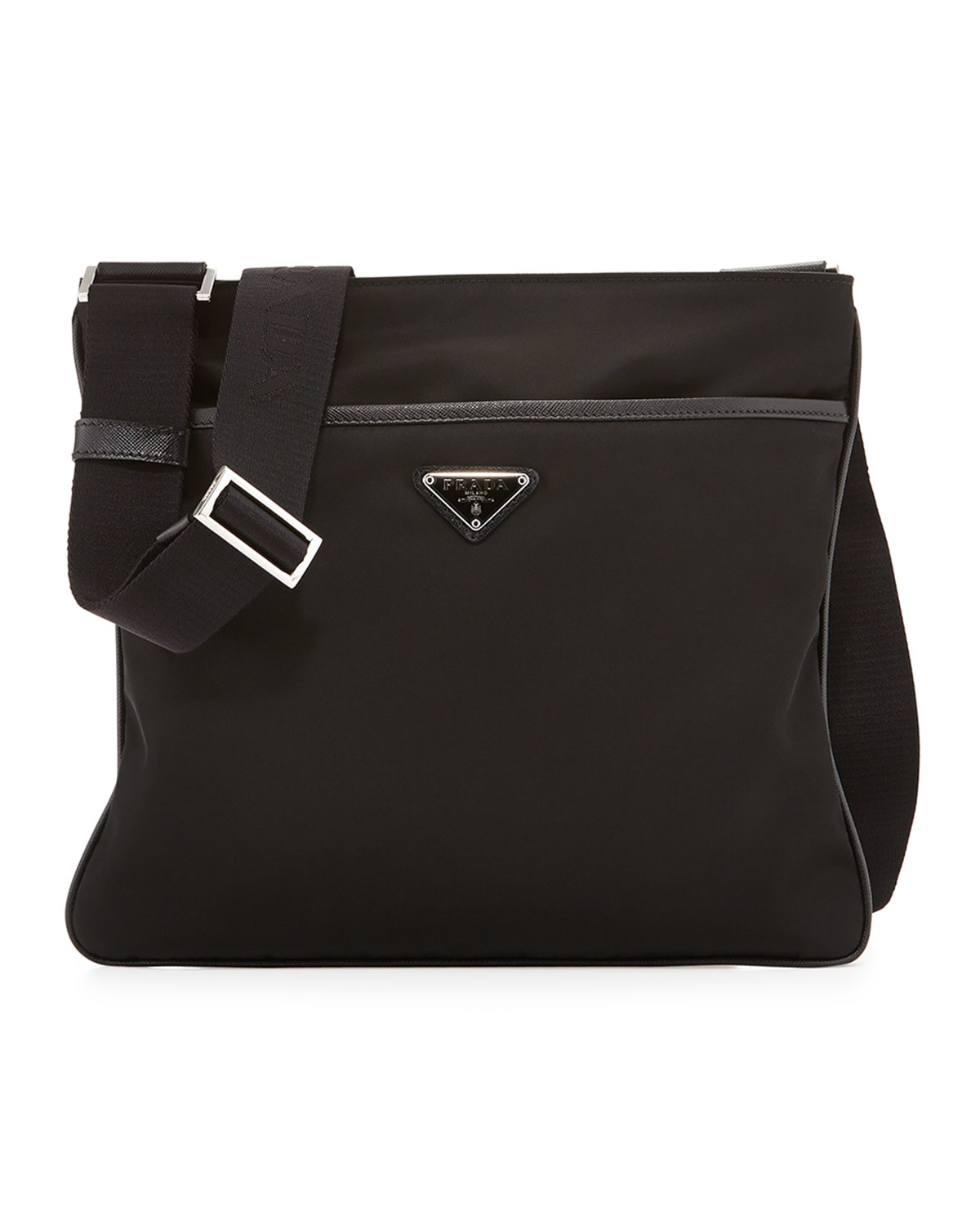 Lyst Prada Nylon Crossbody Bag In Black For Men
