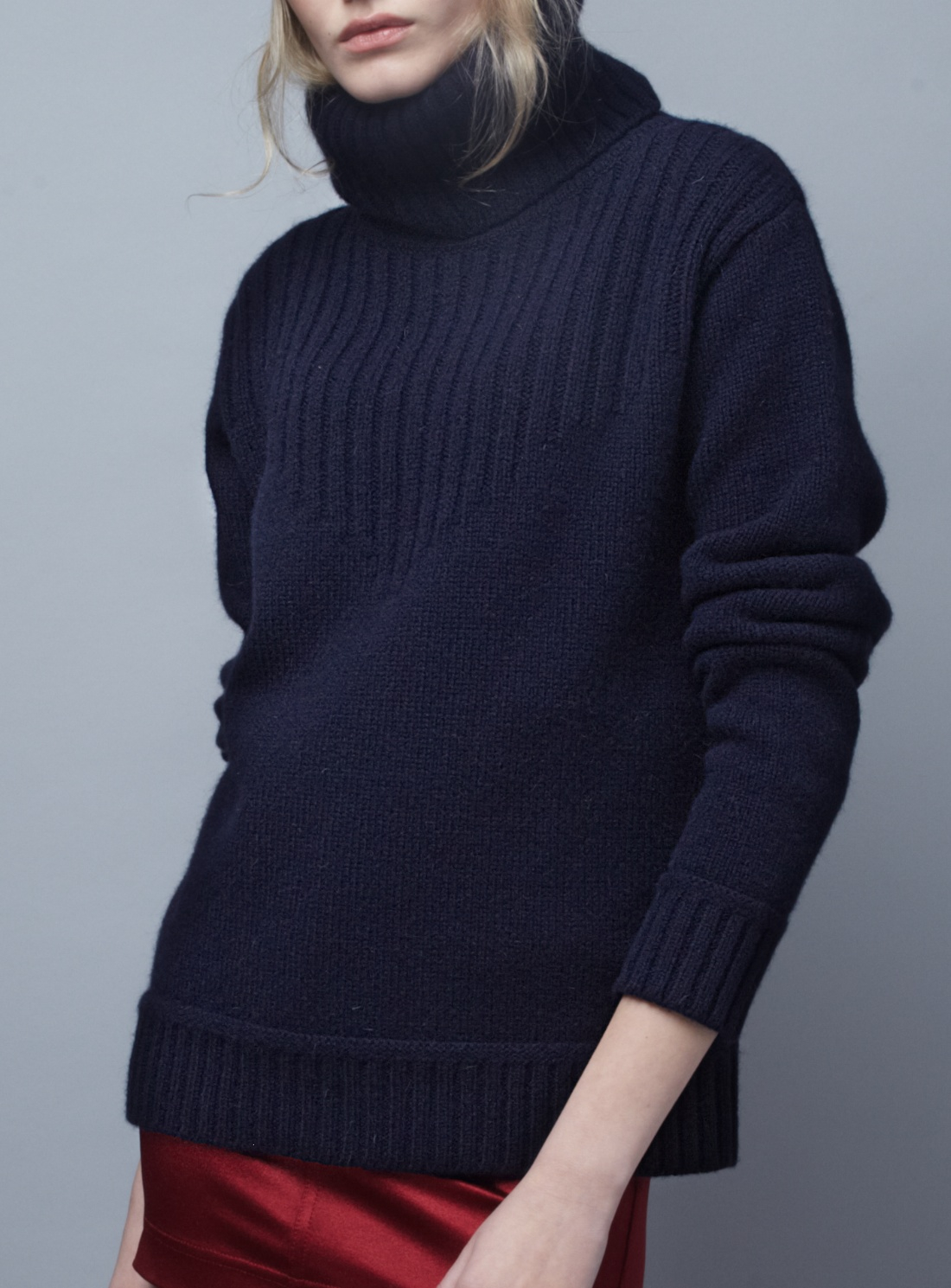 Blake ldn Navy Redfern Turtleneck Sweater- Last One By in Blue | Lyst