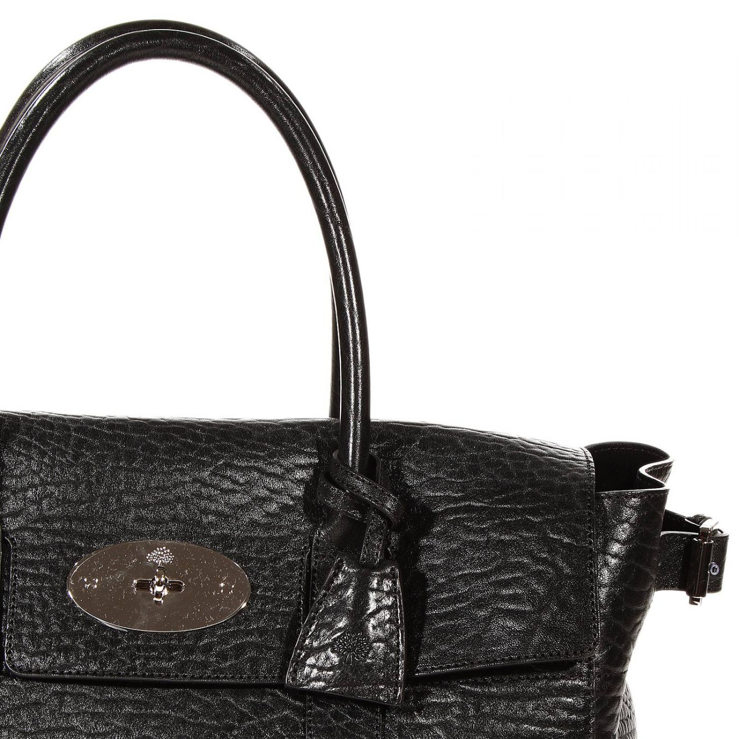 Lyst mulberry borsa bayswater buckle shrunken calf in black for The bayswater