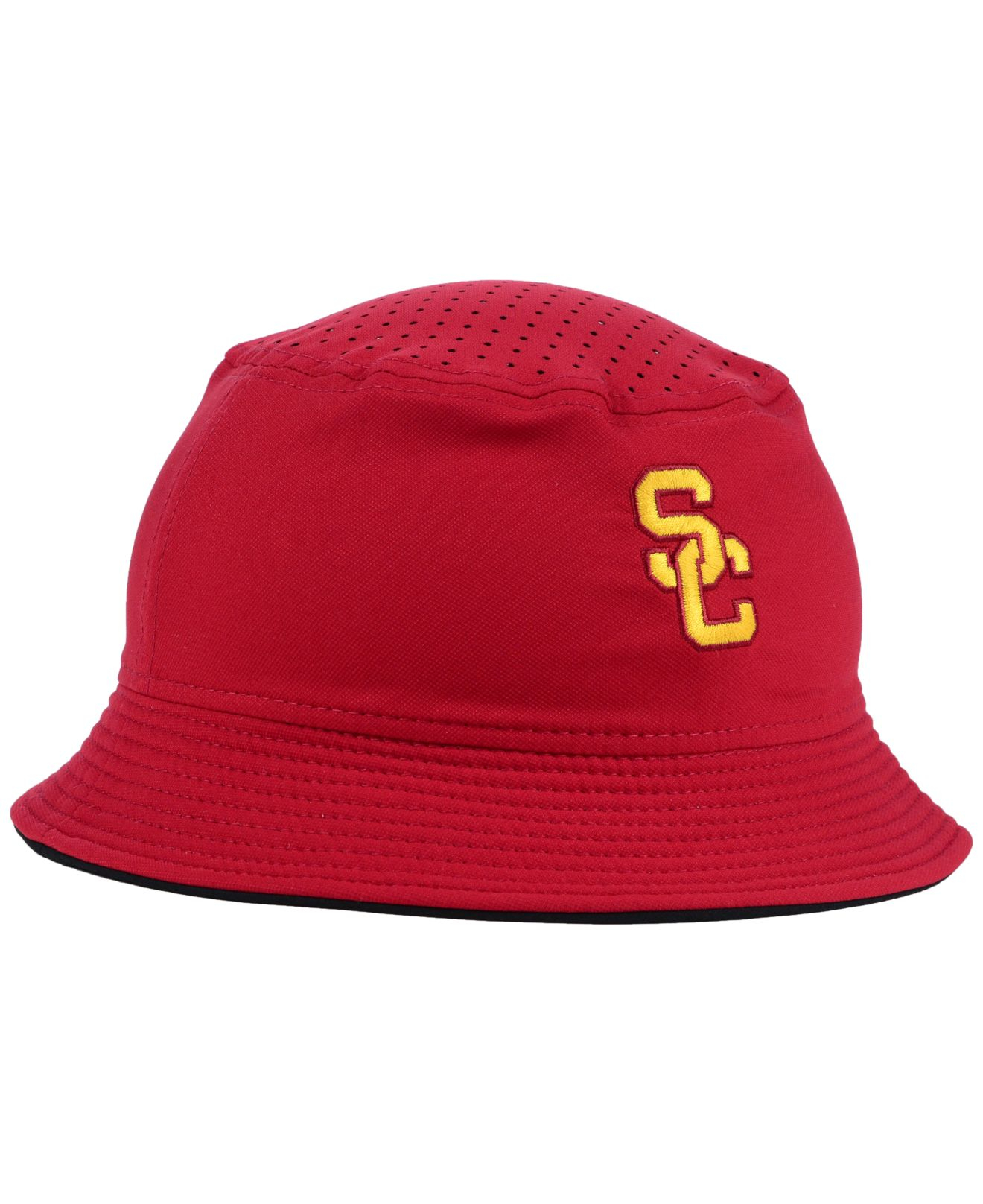 new product d75ab acde9 ... czech lyst nike usc trojans vapor bucket hat in red for men 33848 09042