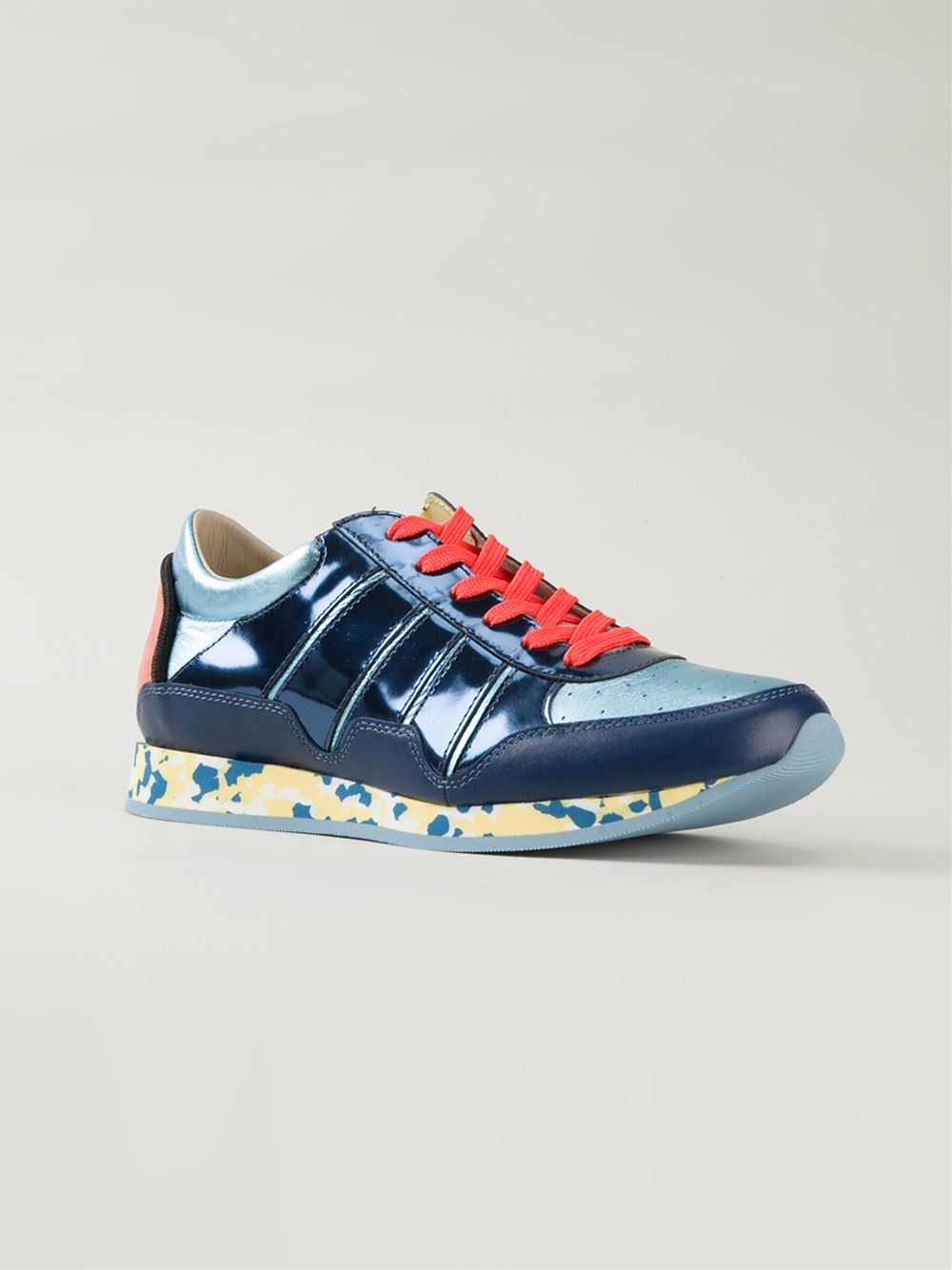 dolce gabbana mix match sneakers in blue for men lyst. Black Bedroom Furniture Sets. Home Design Ideas