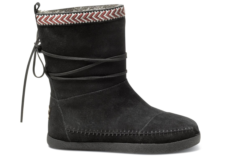 Toms Black Suede Trim Womenu0026#39;S Nepal Boots In Black | Lyst