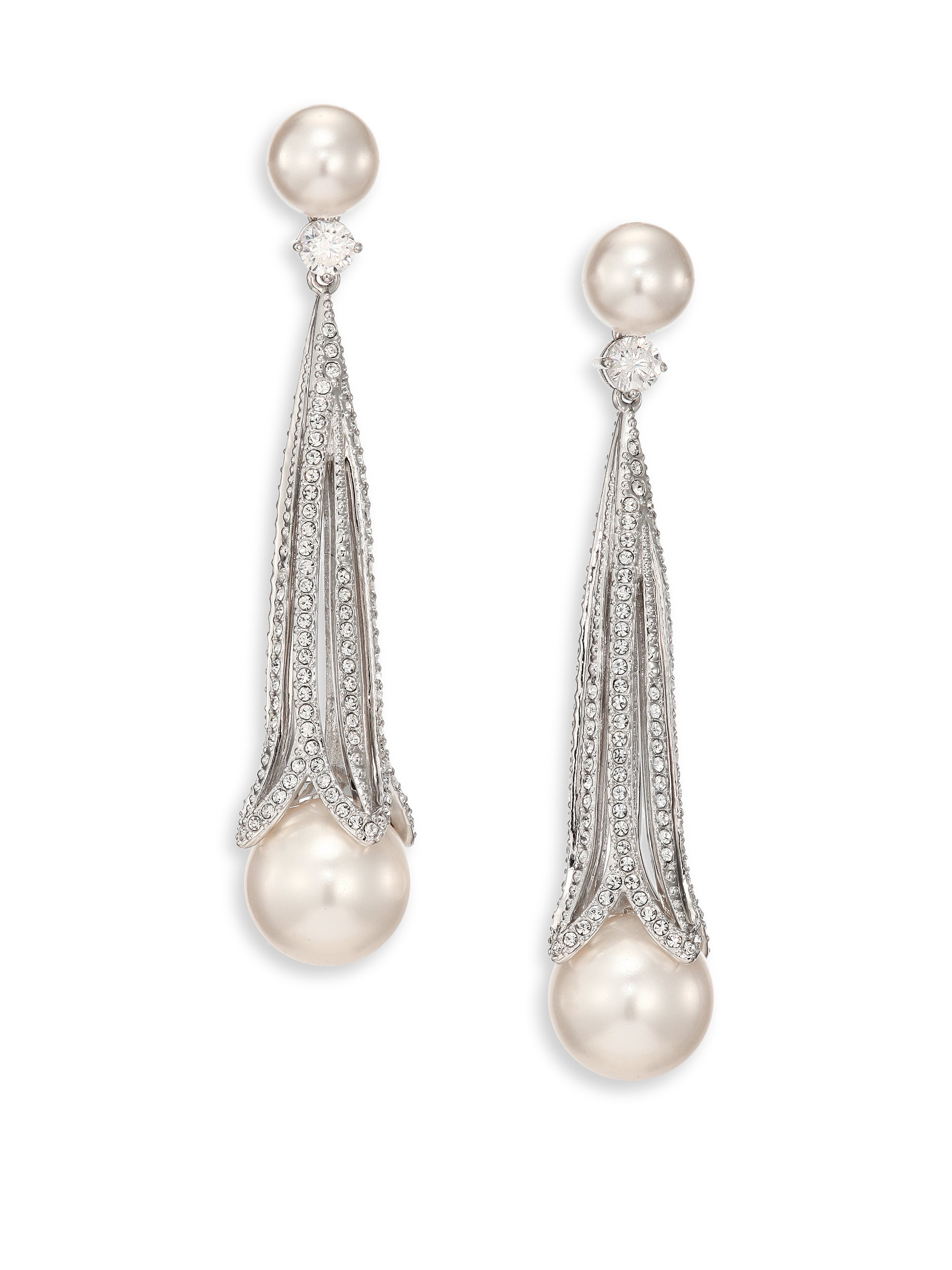 Long Drop Pearl Earrings Best All Earring Photos Kamiliol