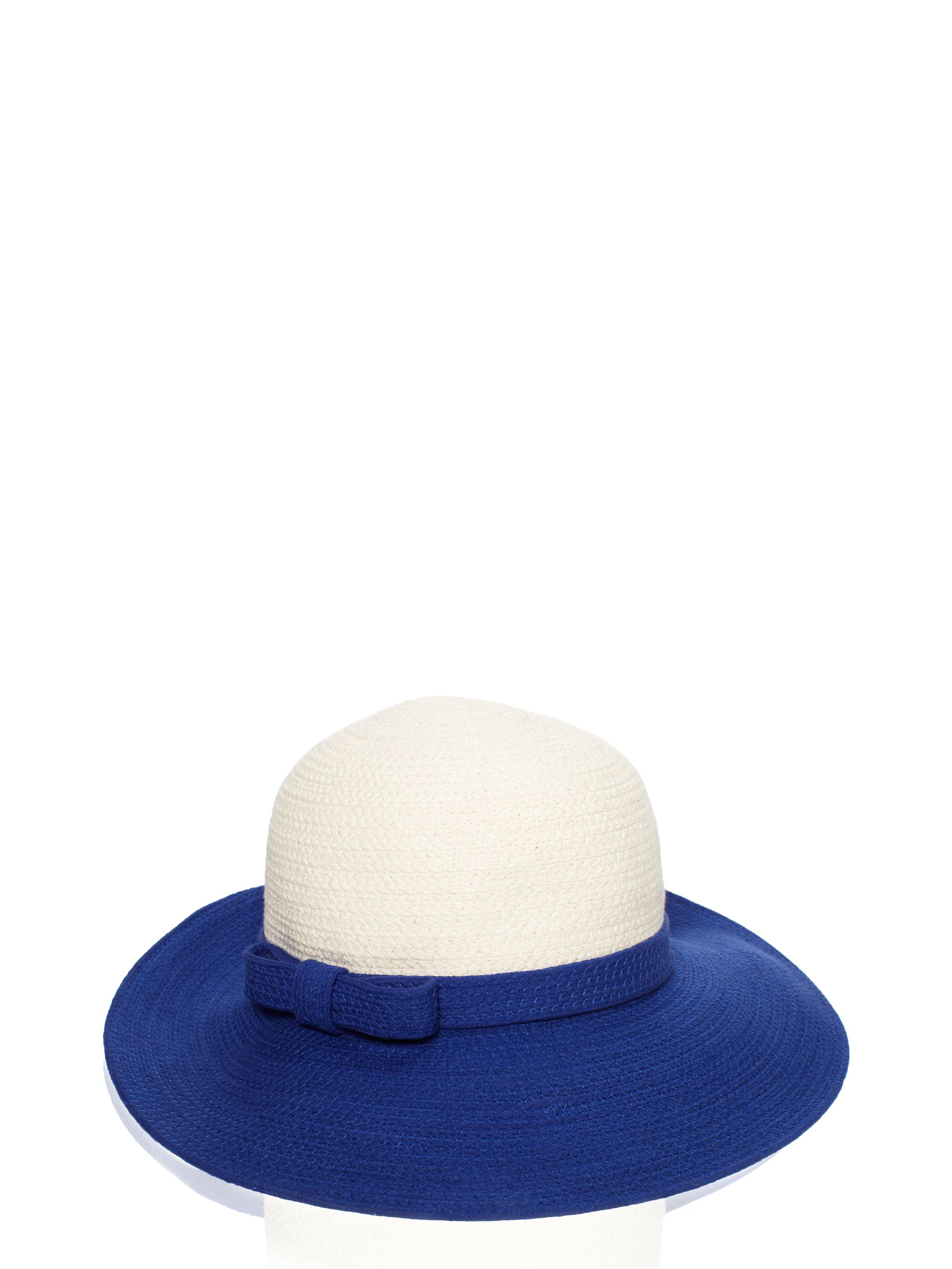 f9ca48741 Lyst - Kate Spade Fancy Meeting You Colorblock Webbing Sun Hat in Blue
