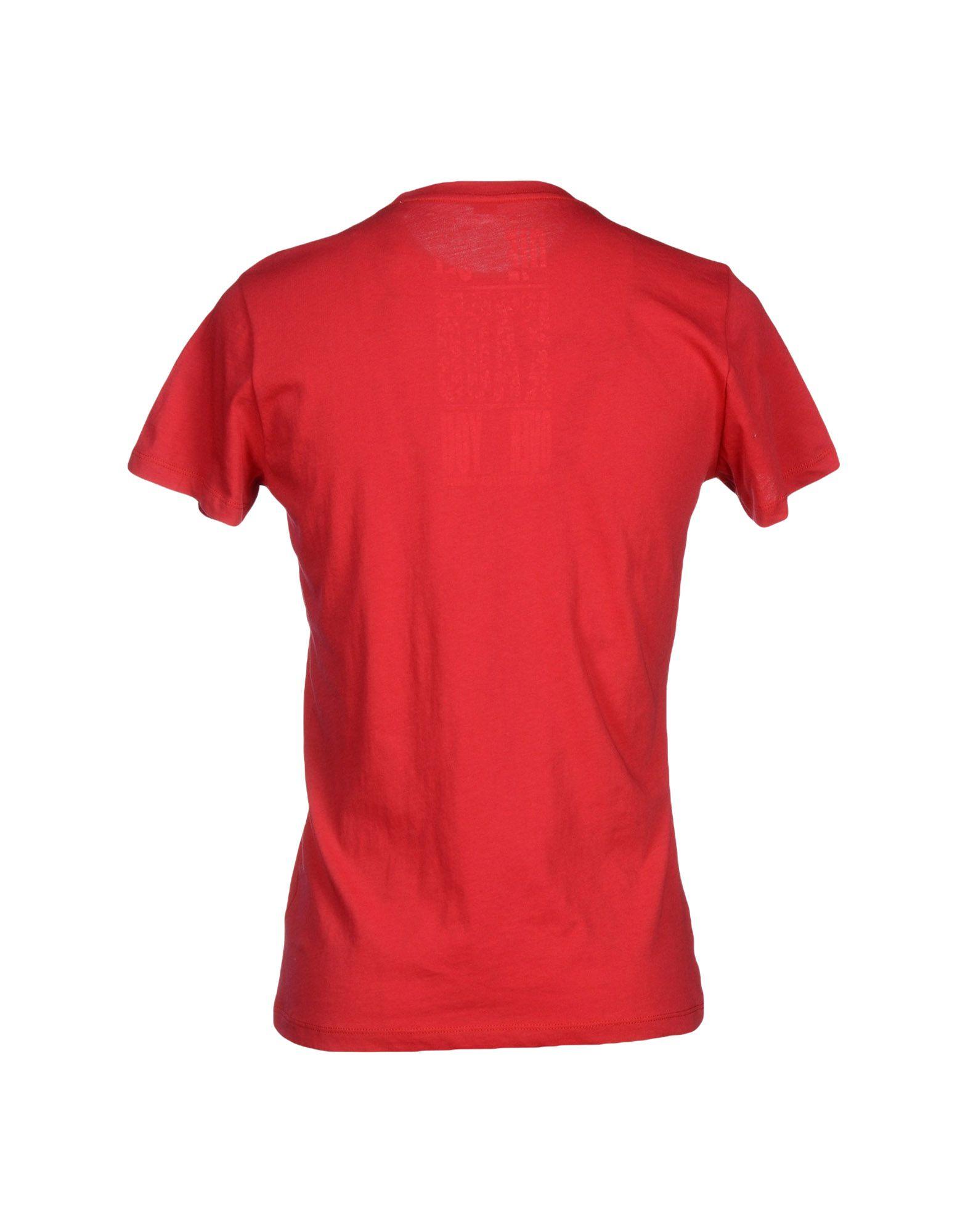diesel t shirt in red for men lyst. Black Bedroom Furniture Sets. Home Design Ideas